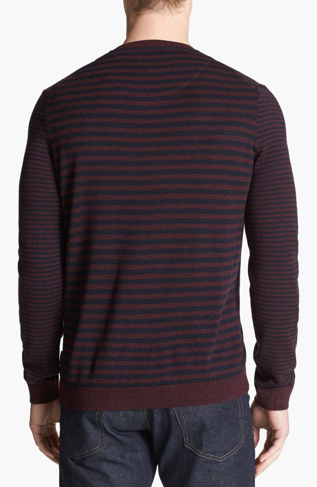 Alternate Image 2  - Ted Baker London 'Moseley' Striped Crewneck Sweater