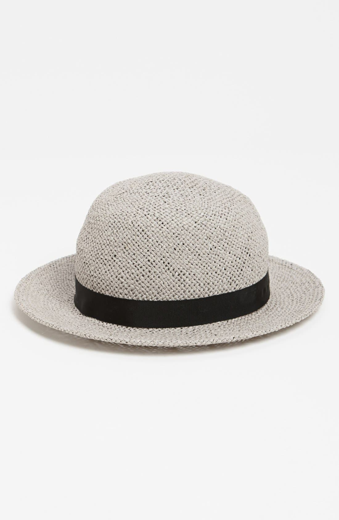 Main Image - Topshop Wide Brim Straw Cloche