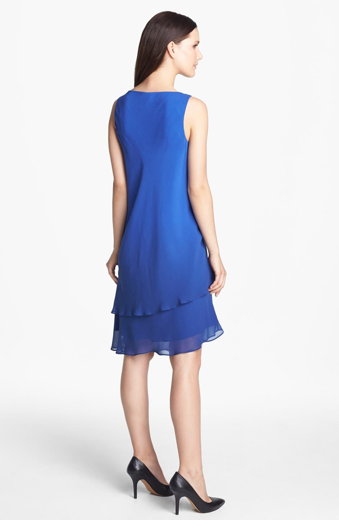 Alternate Image 2  - Eileen Fisher Double Layered Silk Dress