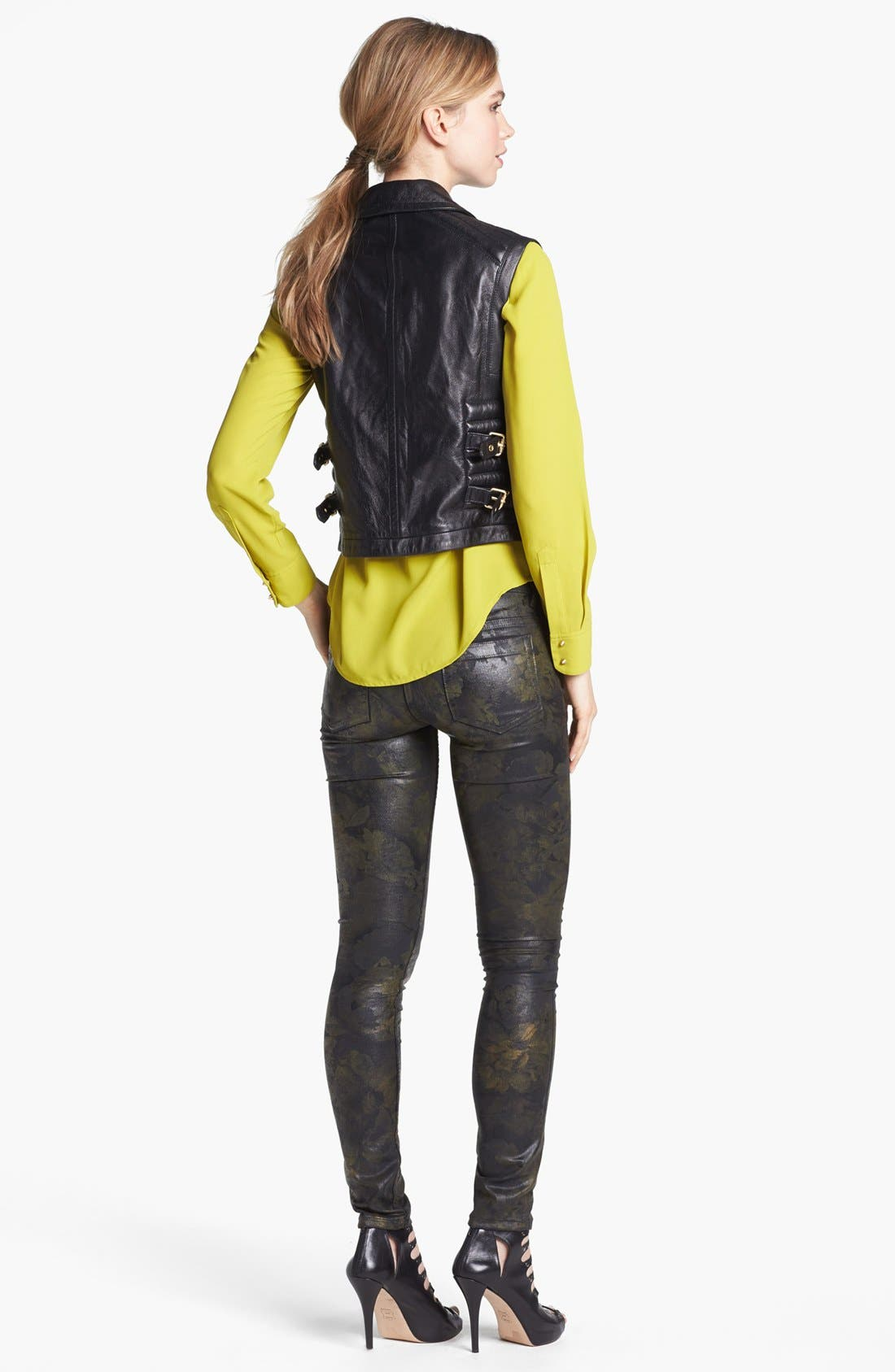 Alternate Image 3  - Vince Camuto Faux Leather Moto Vest