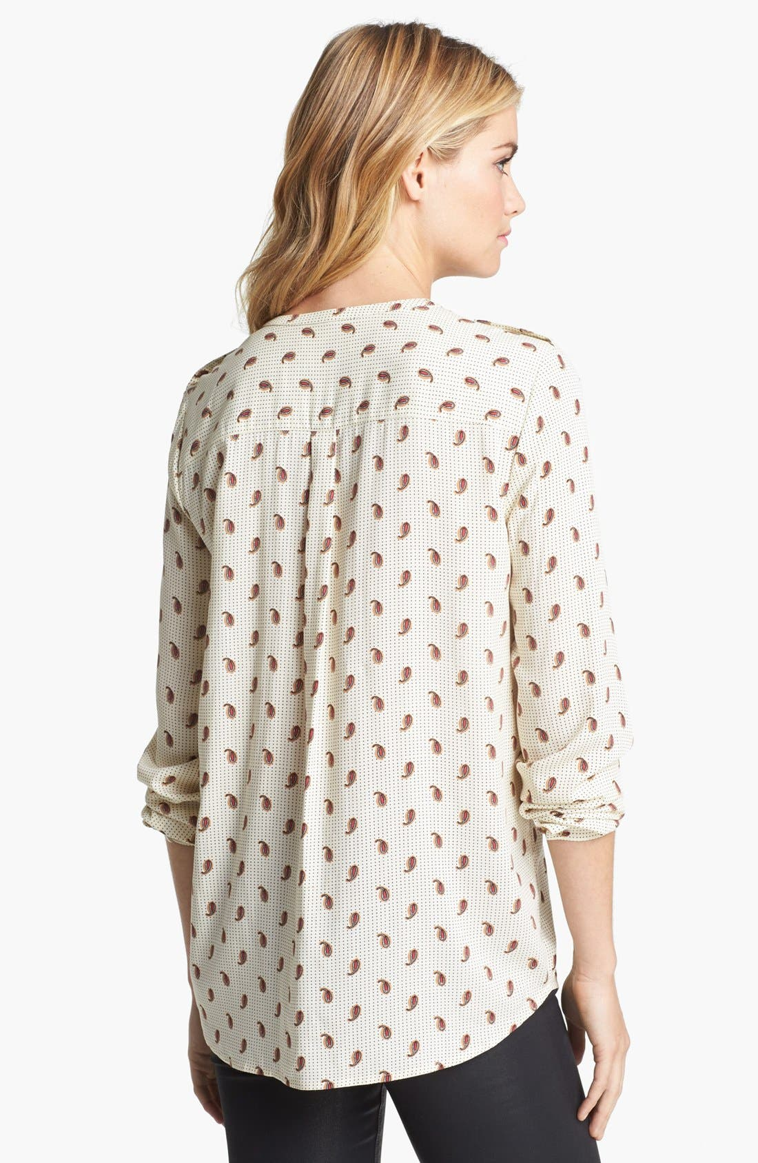 Alternate Image 2  - Two by Vince Camuto Paisley Print Utility Shirt