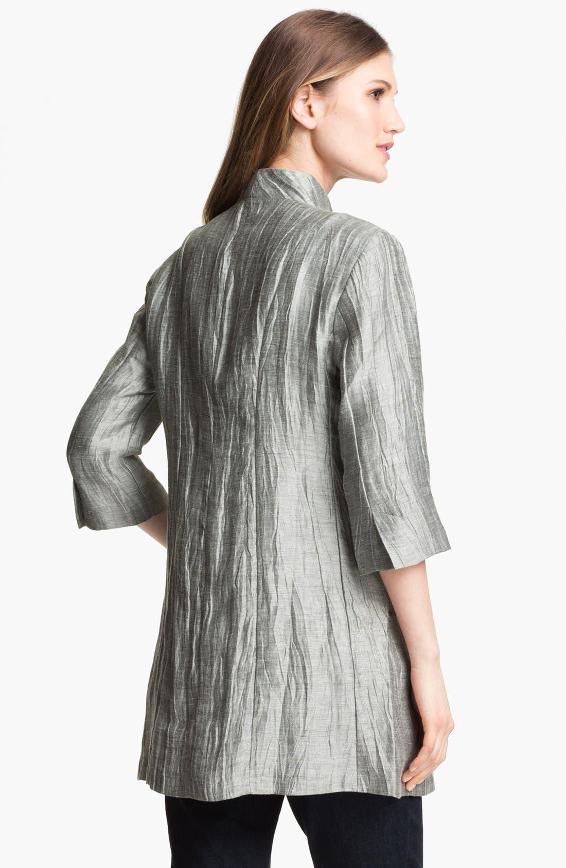 Alternate Image 2  - Eileen Fisher Crinkled Linen Jacket (Petite)