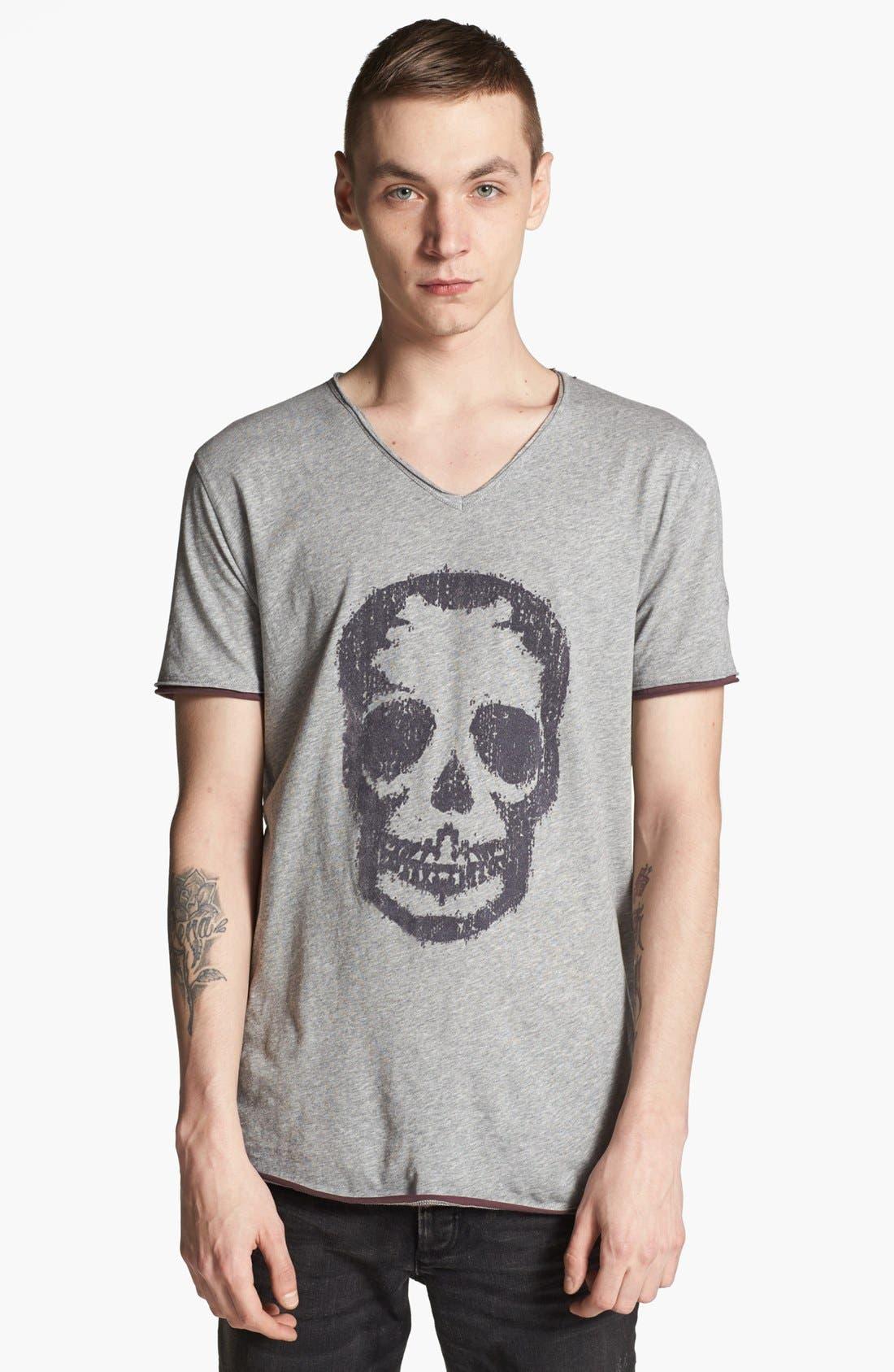 Alternate Image 1 Selected - Zadig & Voltaire 'Skull' V-Neck T-Shirt