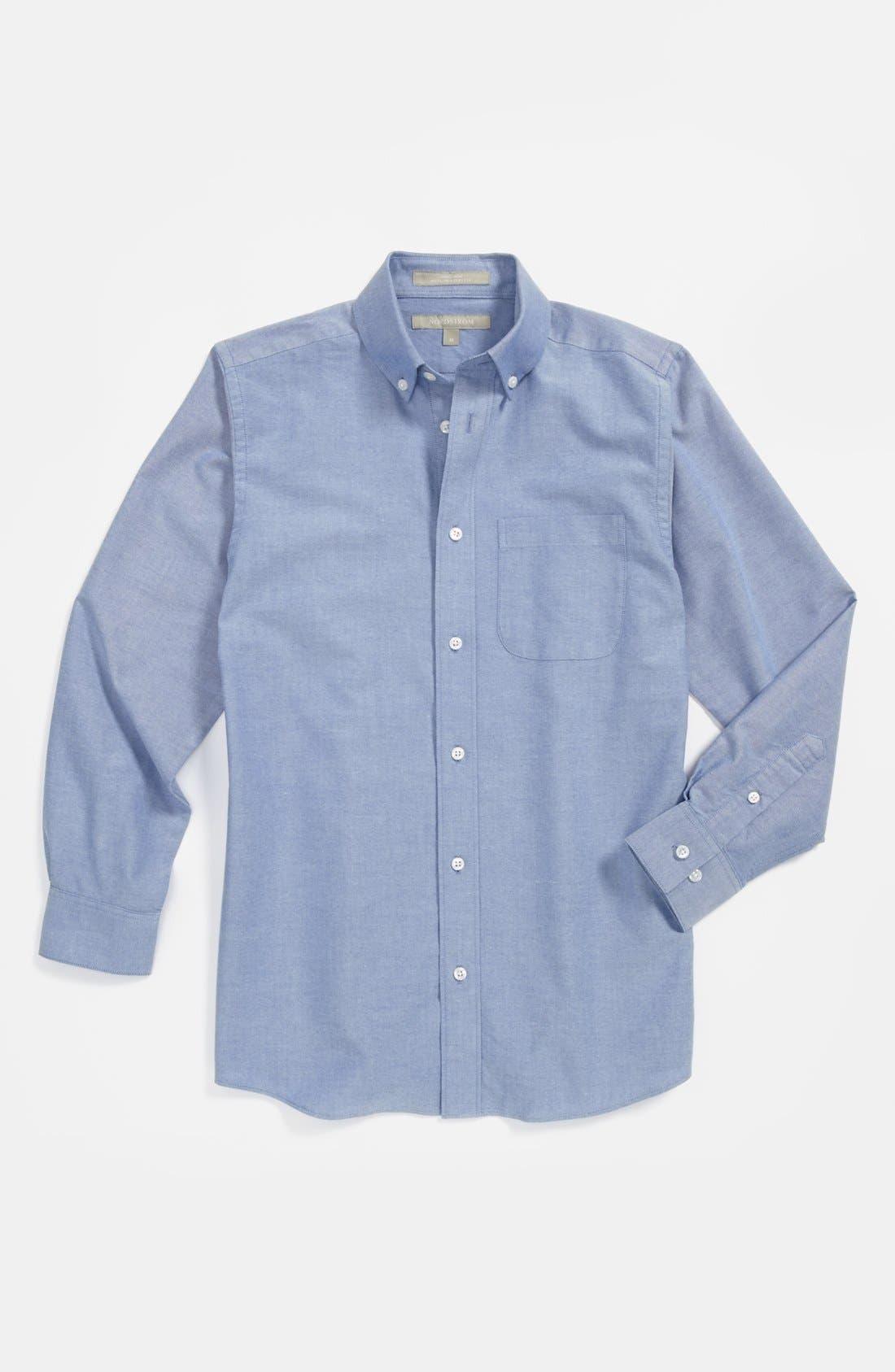 Main Image - Nordstrom 'Michael' Woven Oxford Shirt (Little Boys & Big Boys)