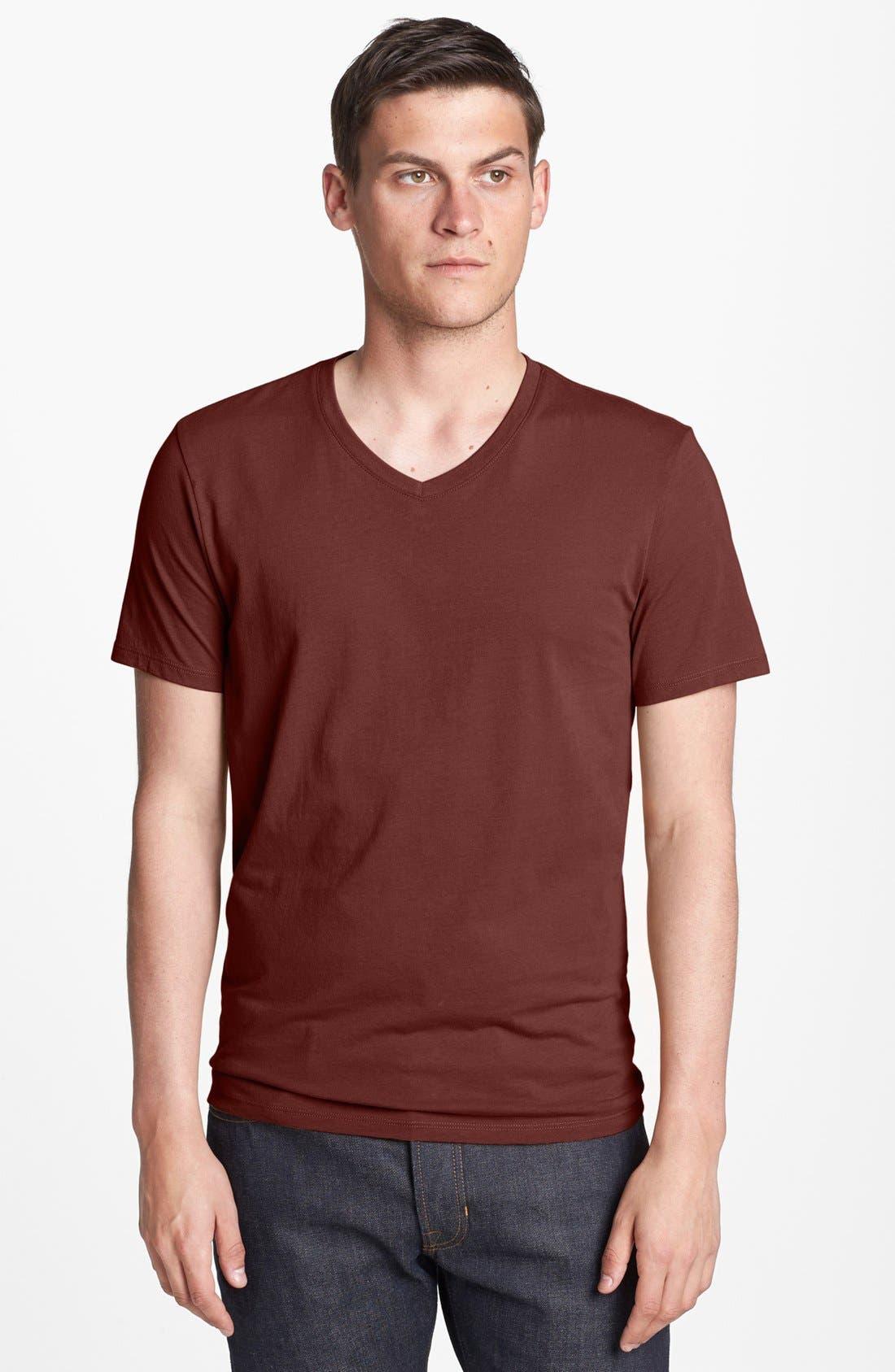 Alternate Image 1 Selected - Vince Pima Cotton Jersey V-Neck T-Shirt