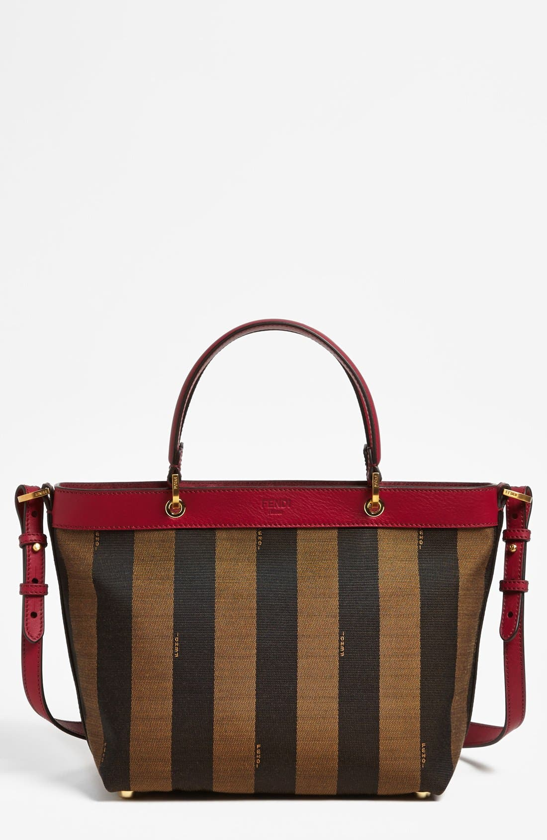 Alternate Image 1 Selected - Fendi 'Pequin' Logo Jacquard Tote