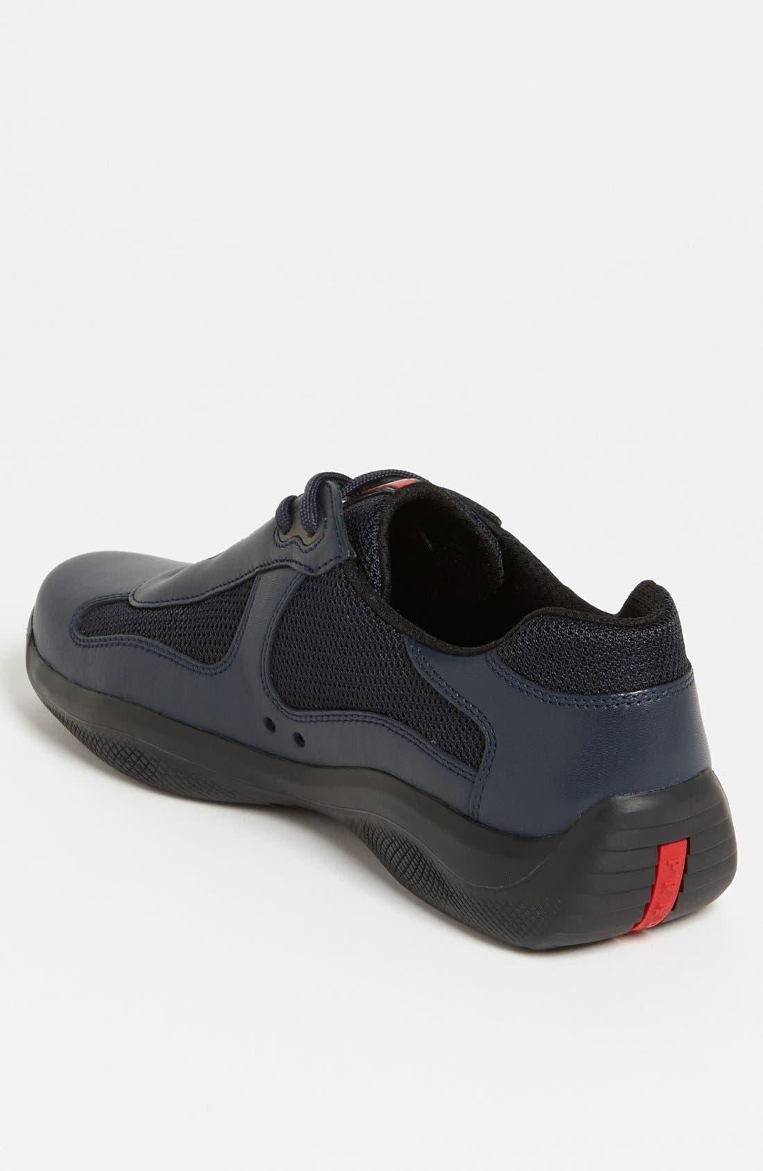 Alternate Image 2  - Prada 'Punta Ala' Mesh & Leather Sneaker (Men)
