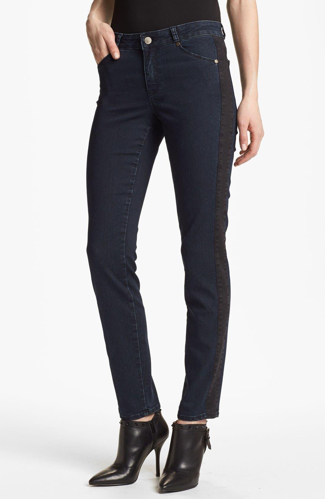 Alternate Image 1 Selected - CJ by Cookie Johnson Track Stripe Skinny Jeans