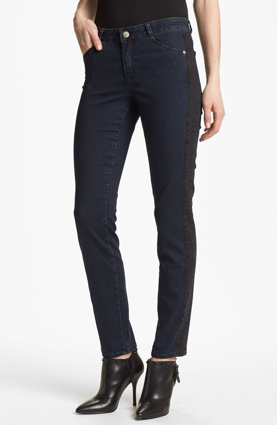 Main Image - CJ by Cookie Johnson Track Stripe Skinny Jeans