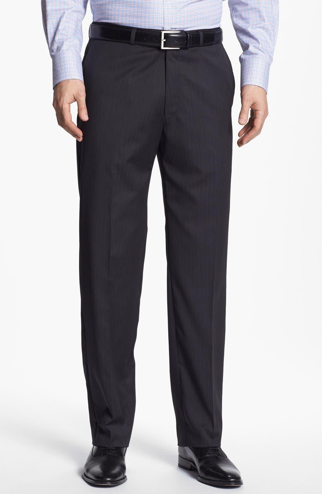 Alternate Image 5  - Hart Schaffner Marx Stripe Wool Suit
