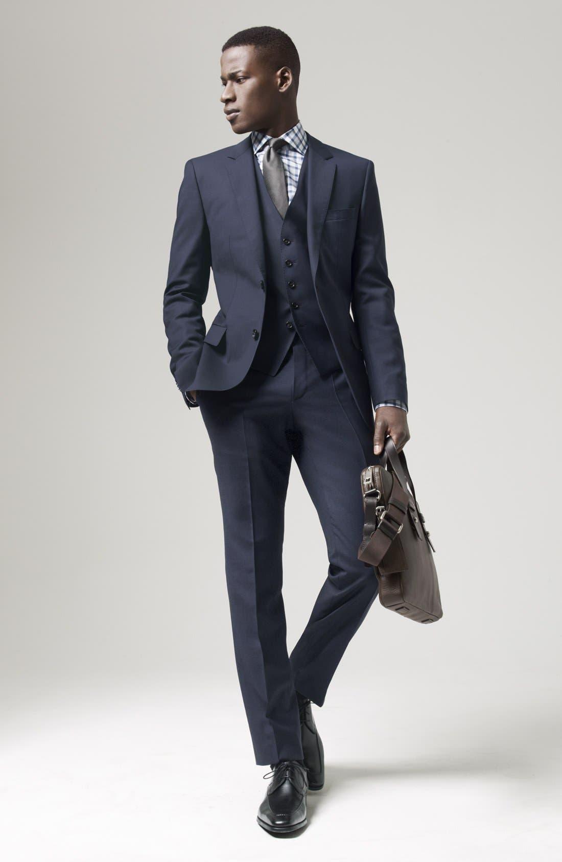 Alternate Image 7  - BOSS HUGO BOSS 'James/Sharp' Trim Fit Three-Piece Suit