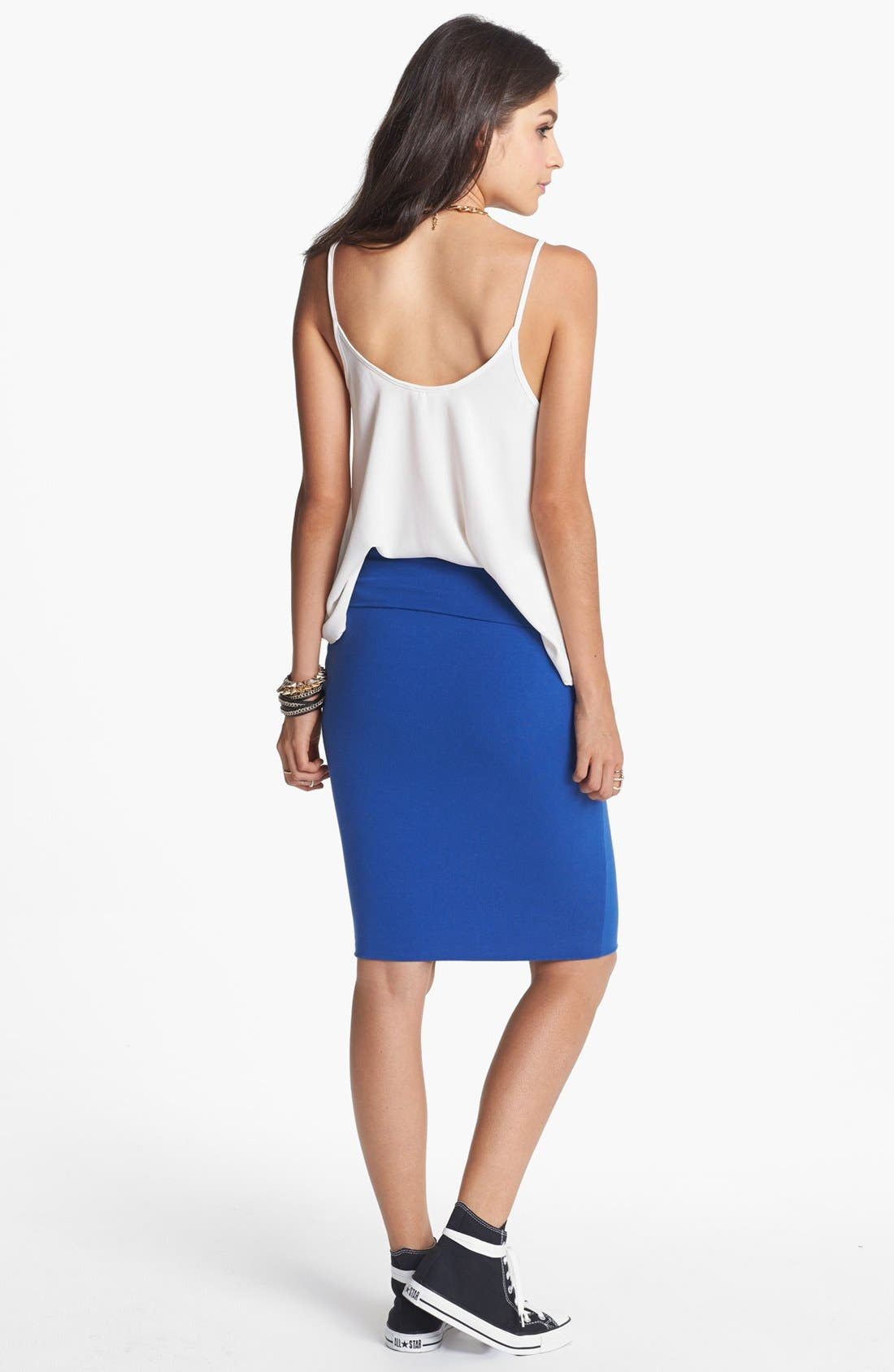 Alternate Image 2  - Lily White Mid-Length Pencil Skirt (Juniors)