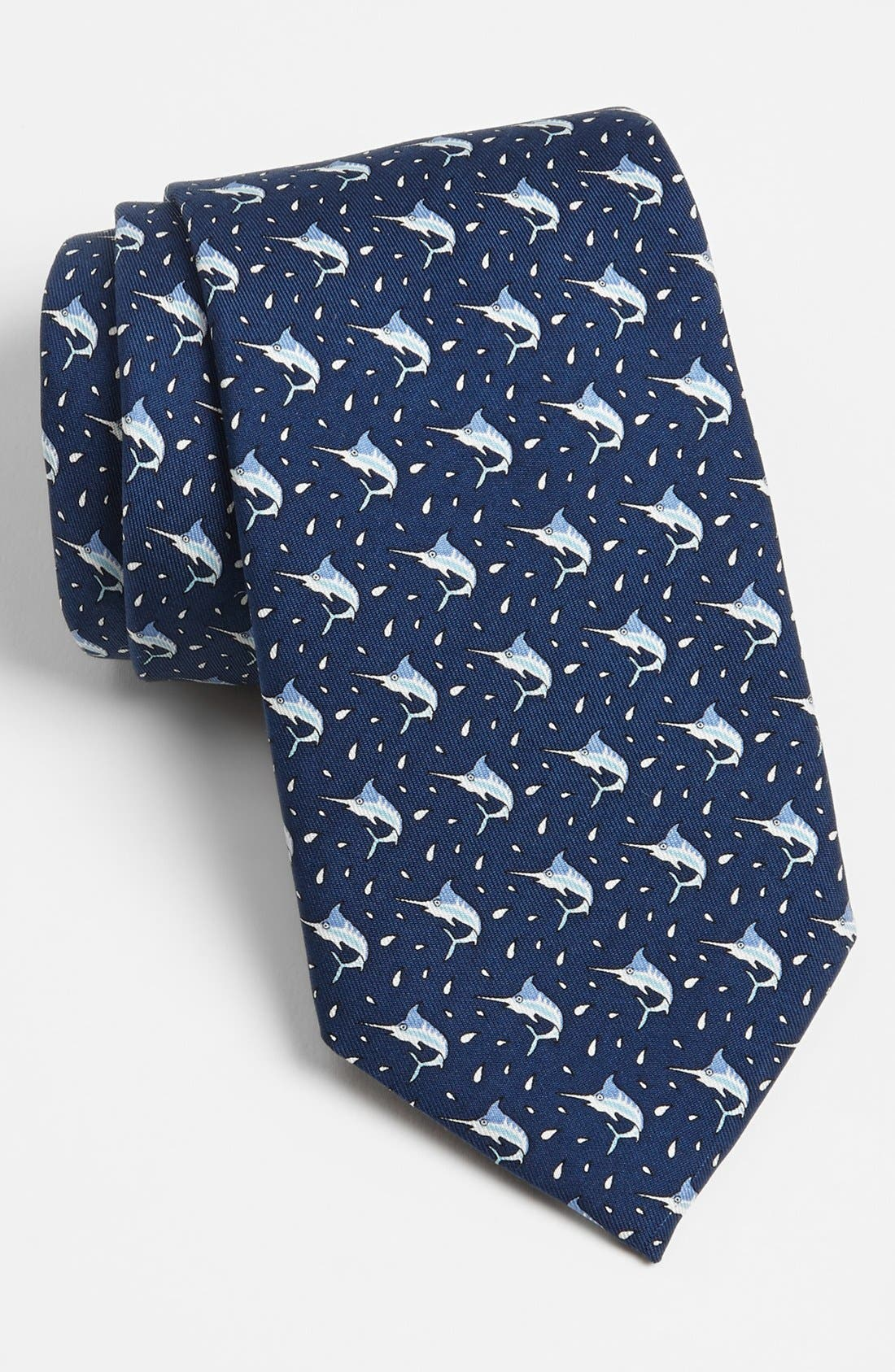 Main Image - Vineyard Vines Swordfish Print Silk Tie