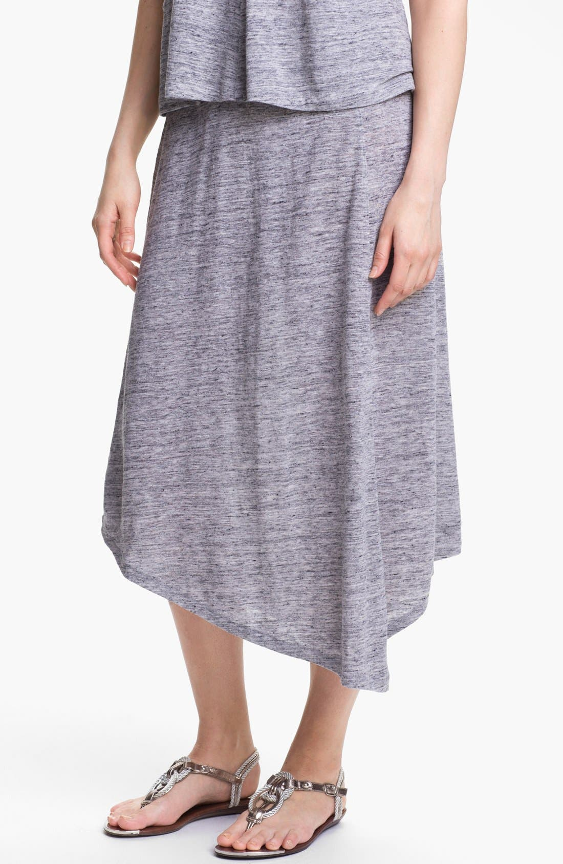 Main Image - Eileen Fisher Asymmetrical Swing Skirt (Petite)