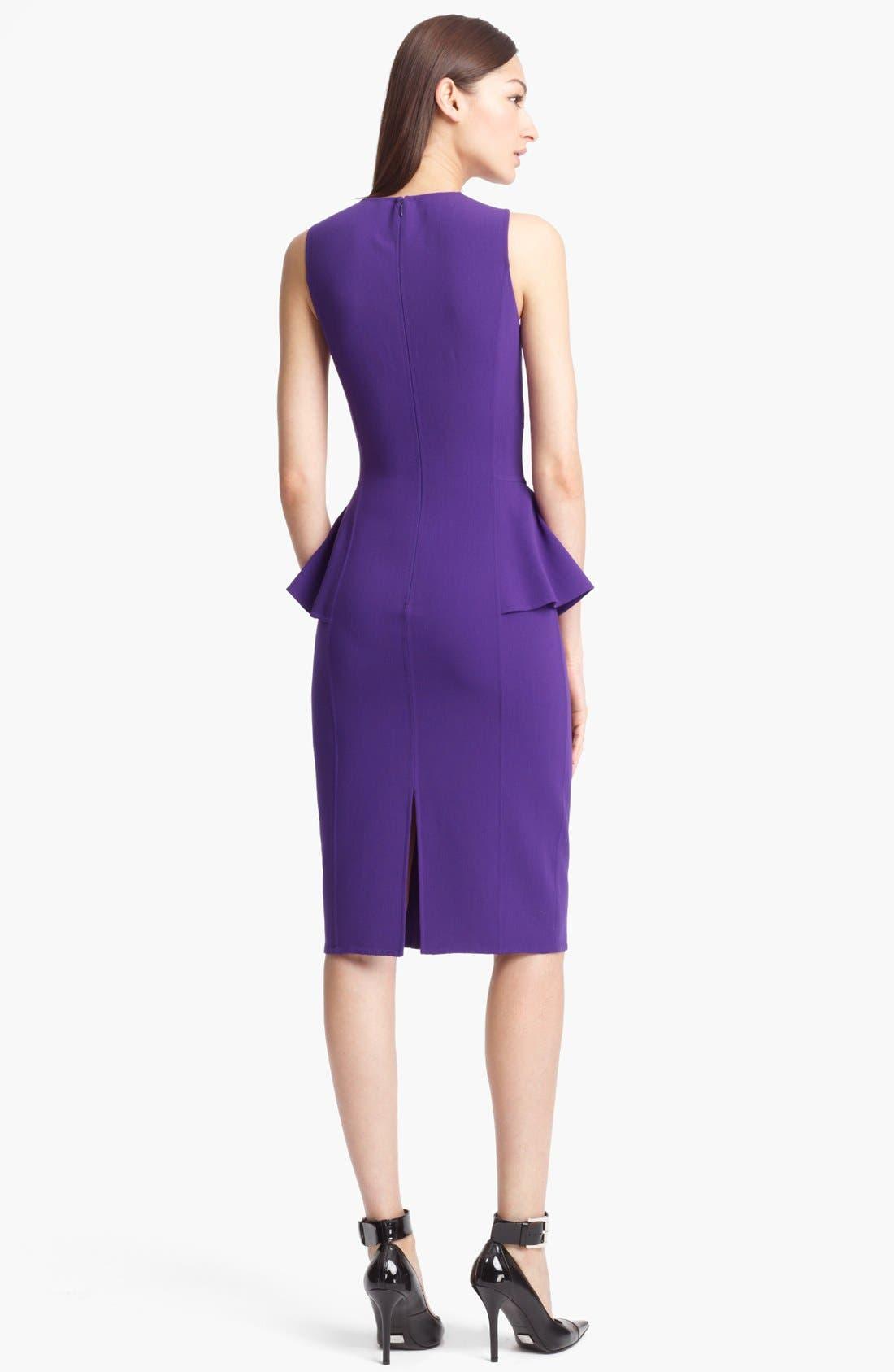 Alternate Image 2  - Michael Kors Peplum Wool Crepe Sheath Dress