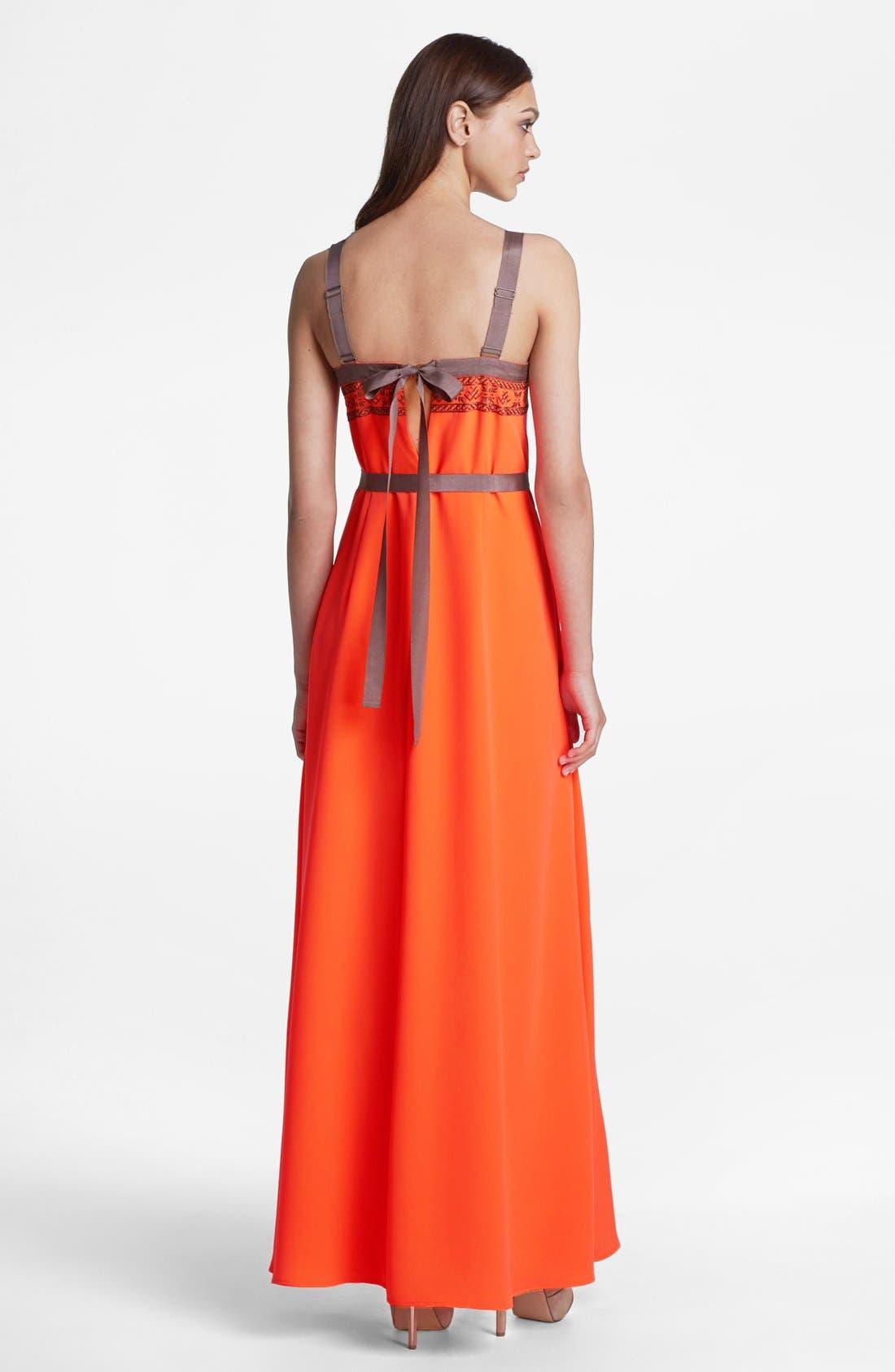 Alternate Image 2  - Jessica Simpson Embroidered Maxi Dress