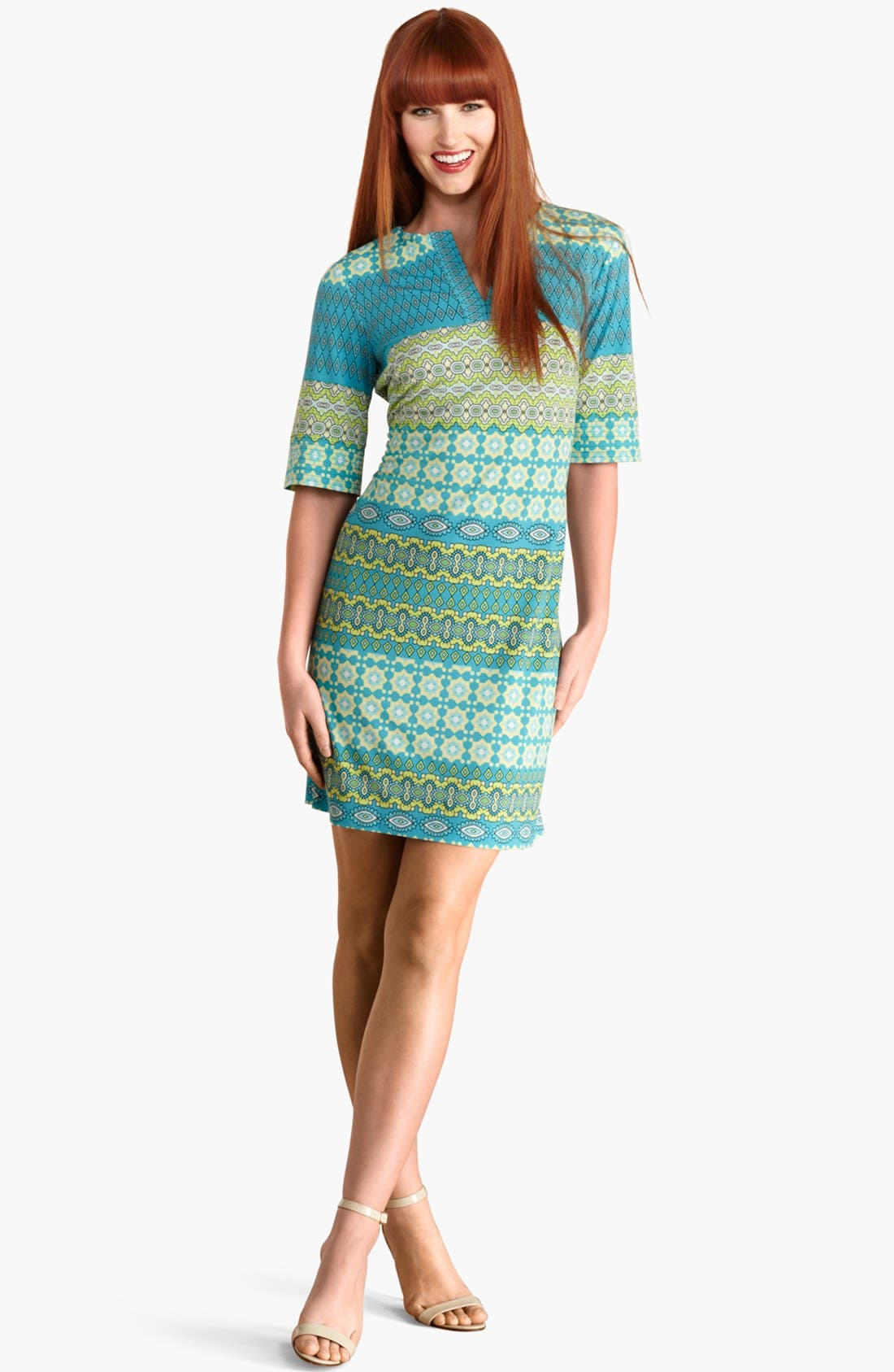 Alternate Image 1 Selected - Donna Morgan Print Shift Dress