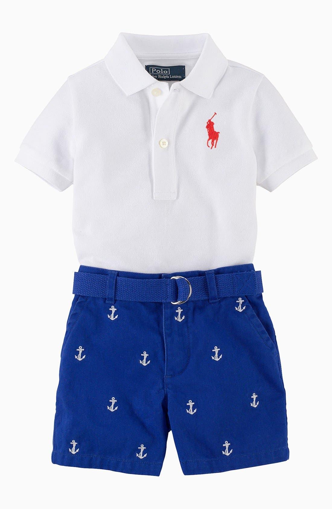 Alternate Image 2  - Ralph Lauren Polo & Shorts (Baby Boys)