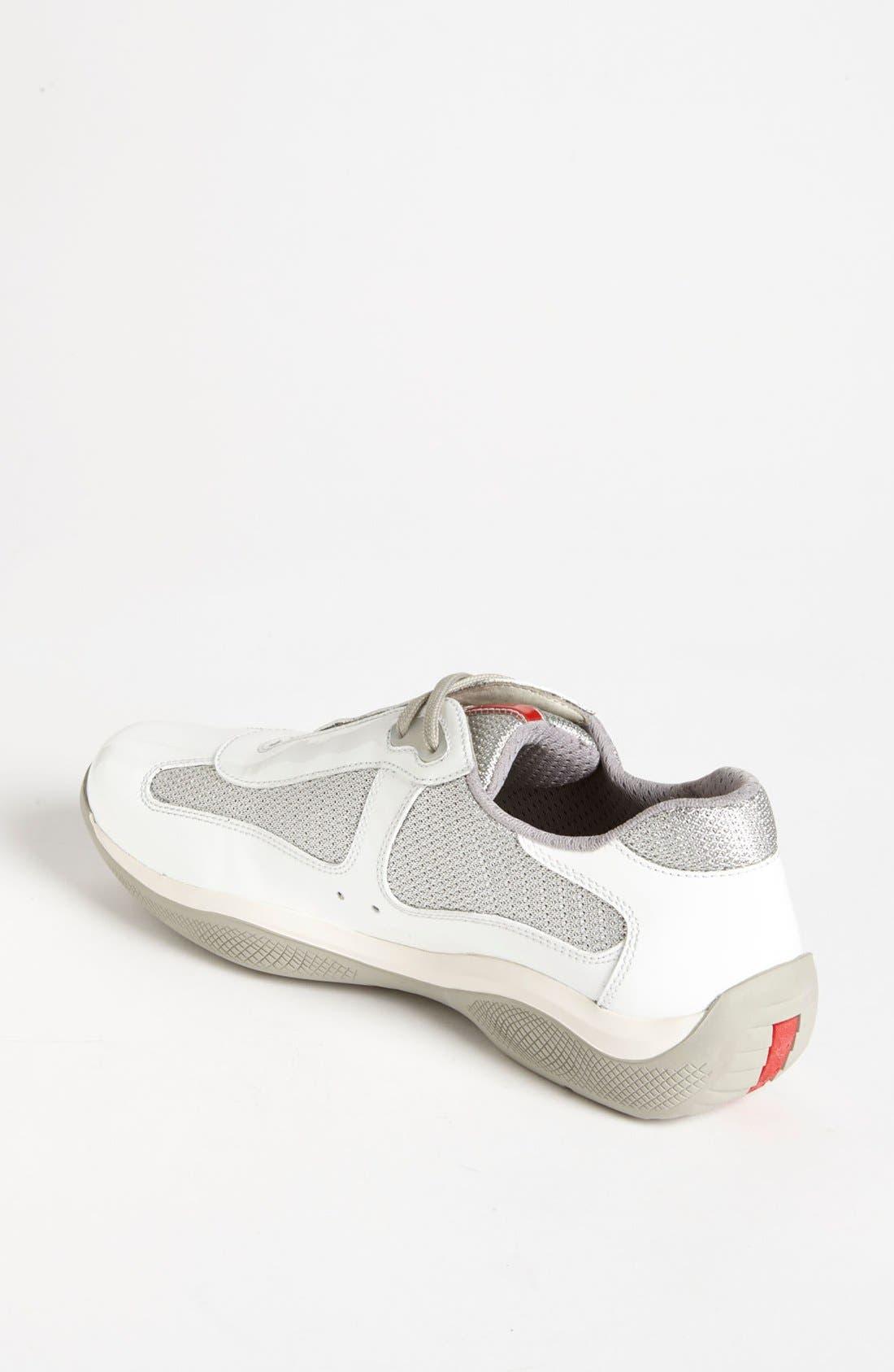 Alternate Image 2  - Prada Patent Leather & Mesh Sneaker