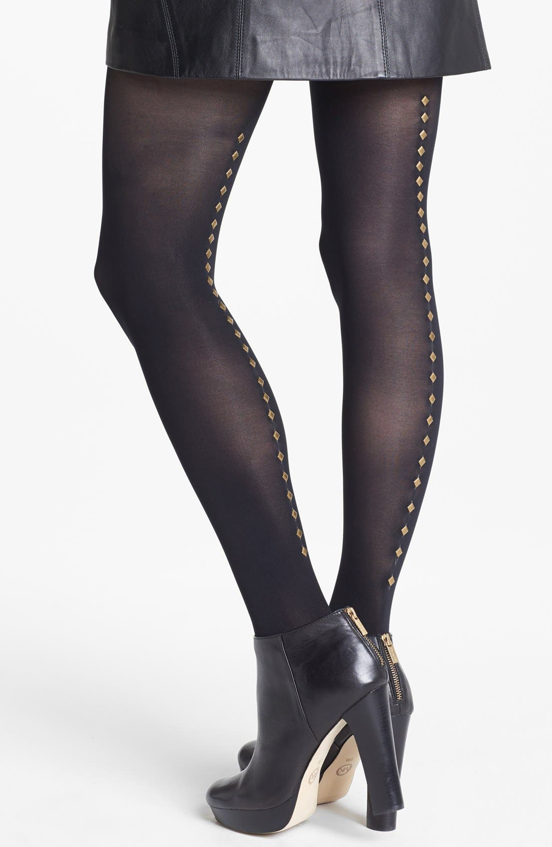 Alternate Image 1 Selected - DKNY Stud Embellished Tights