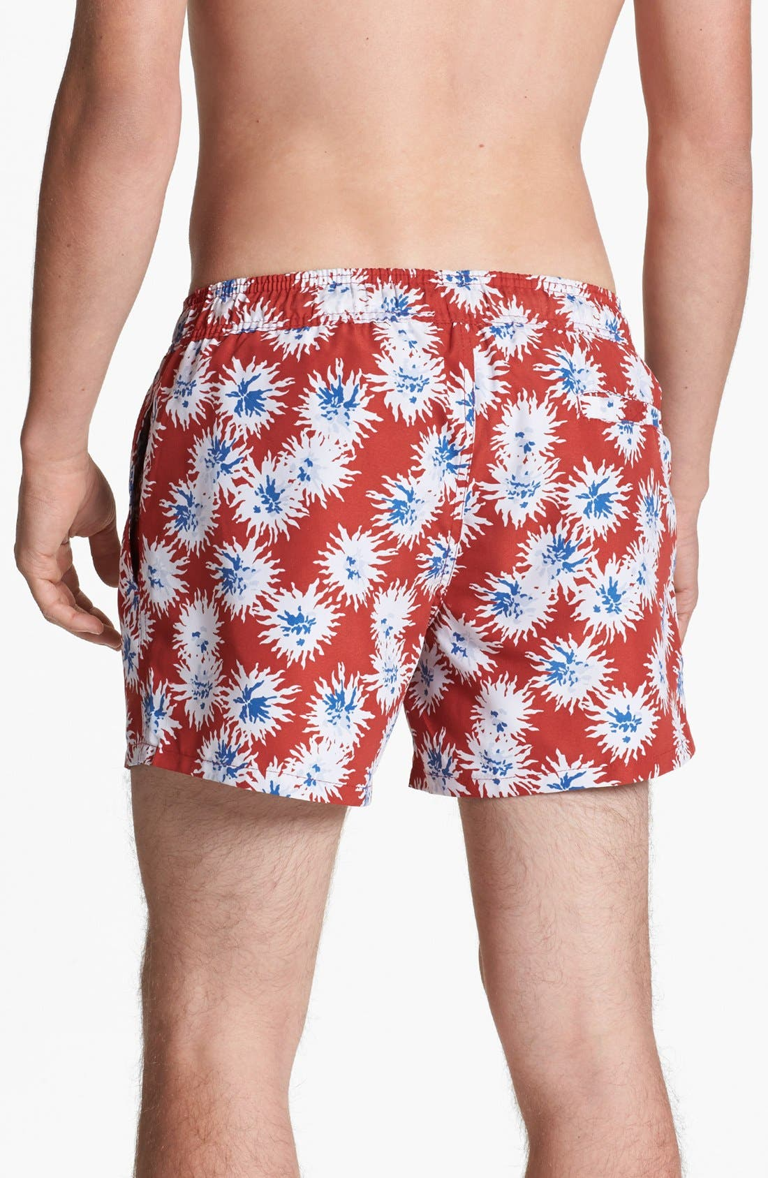 Alternate Image 3  - Topman Floral Print Swim Trunks