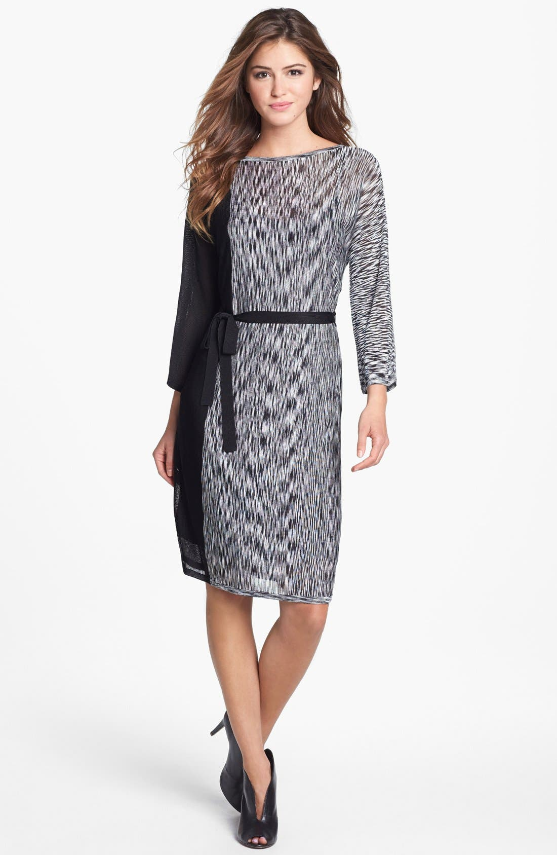 Alternate Image 1 Selected - Trina Turk Print Tie Waist Shift Dress