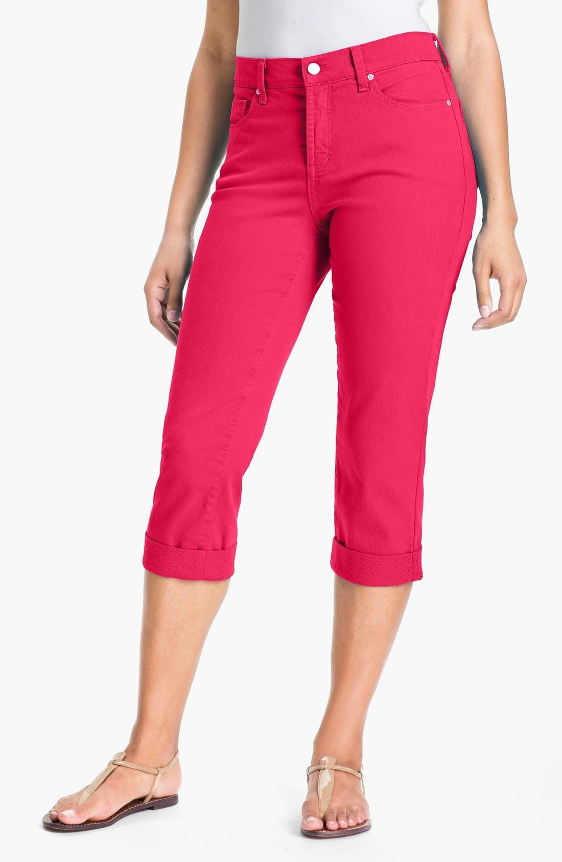 Main Image - NYDJ 'Alyssia' Embellished Crop Jeans (Petite)