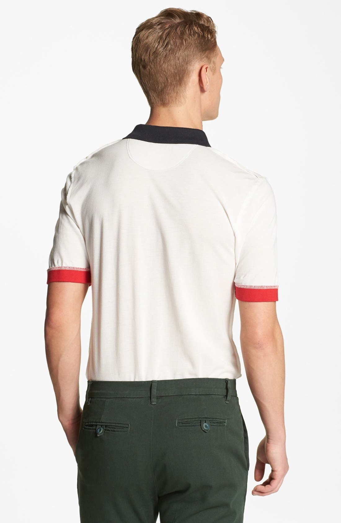 Alternate Image 2  - Band of Outsiders Inside Out Piqué Polo
