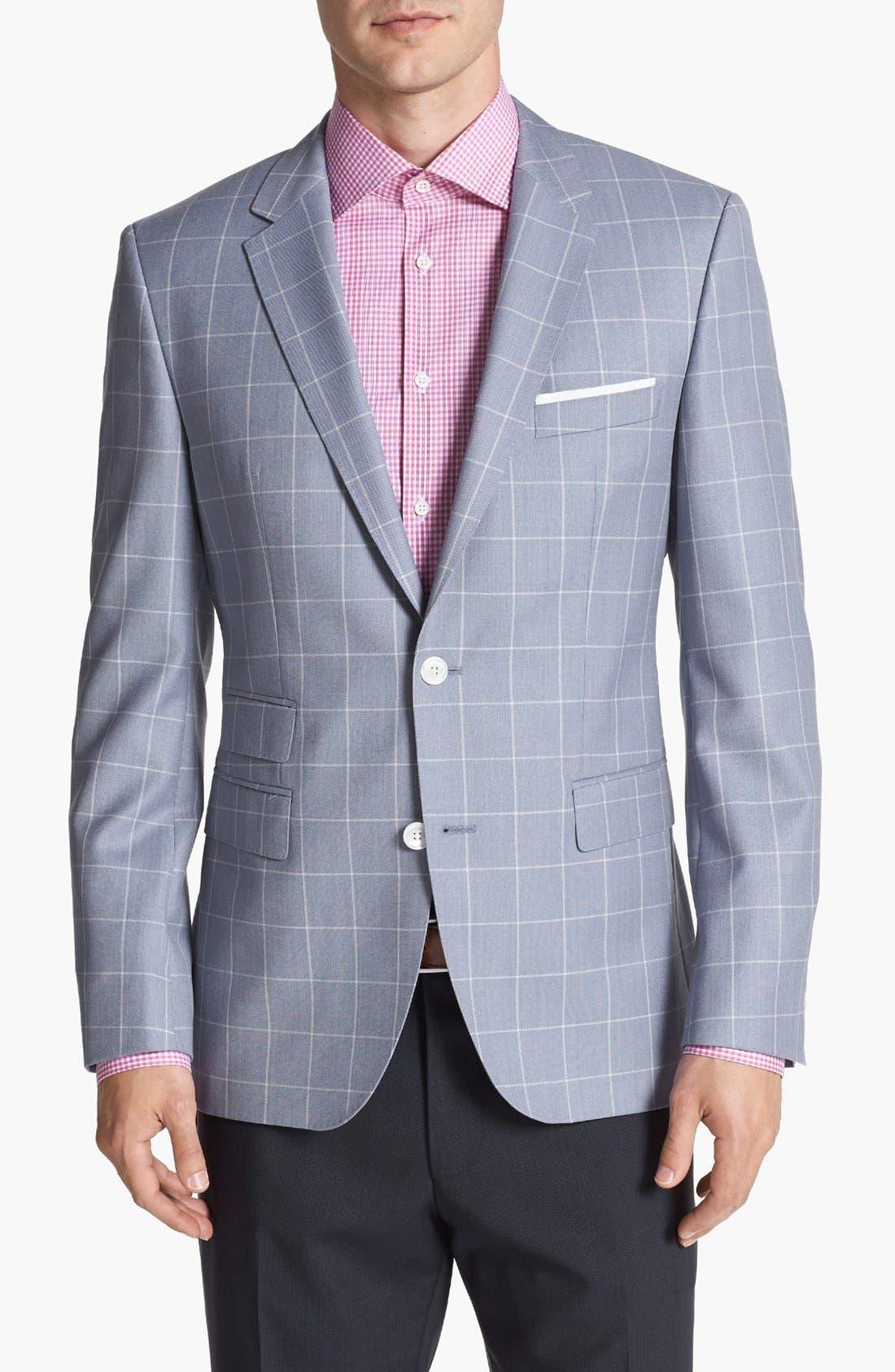 Alternate Image 1 Selected - BOSS HUGO BOSS 'Sweet' Trim Fit Plaid Sportcoat