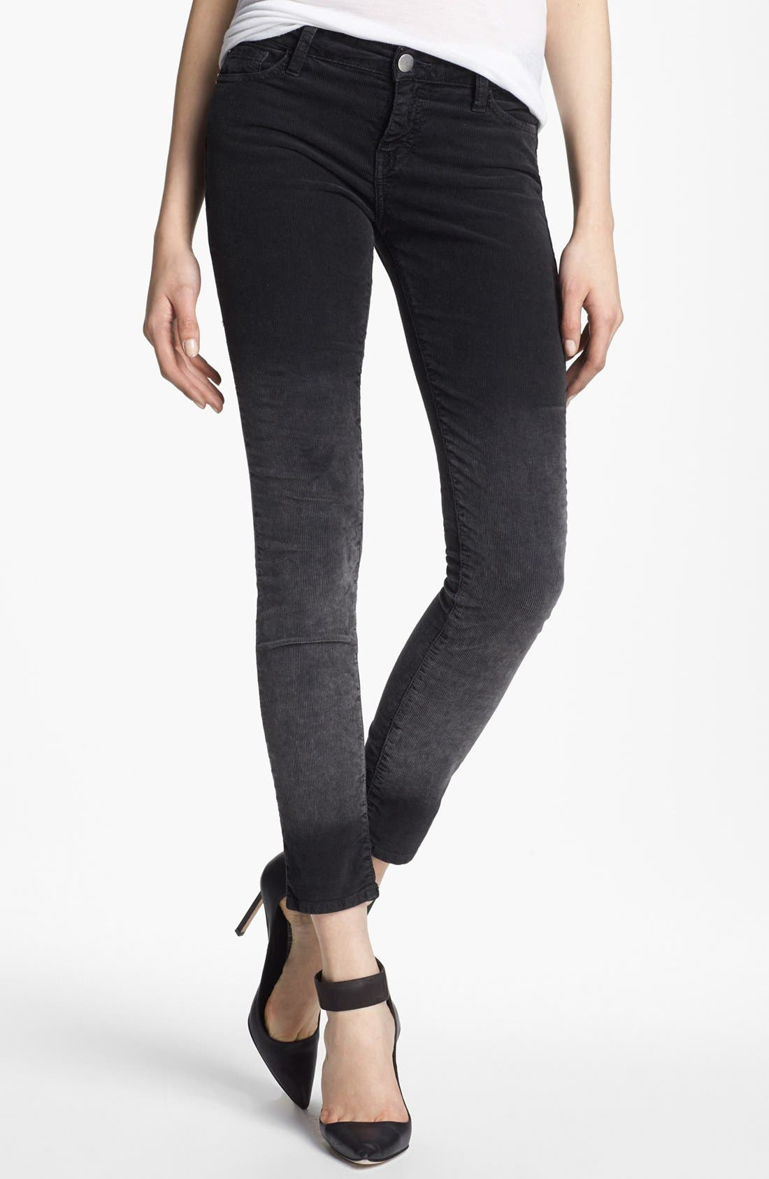 Alternate Image 1 Selected - EACH X OTHER Skinny Deep Dye Corduroy Pants