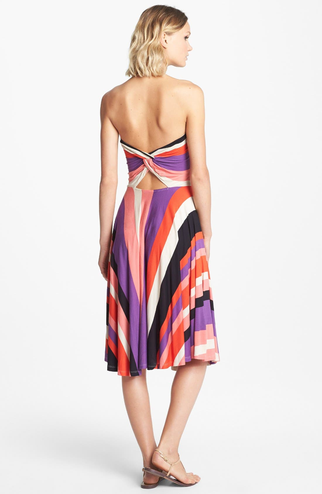 Alternate Image 2  - Felicity & Coco 'Miliani' Strapless Stripe Fit & Flare Dress (Nordstrom Exclusive)