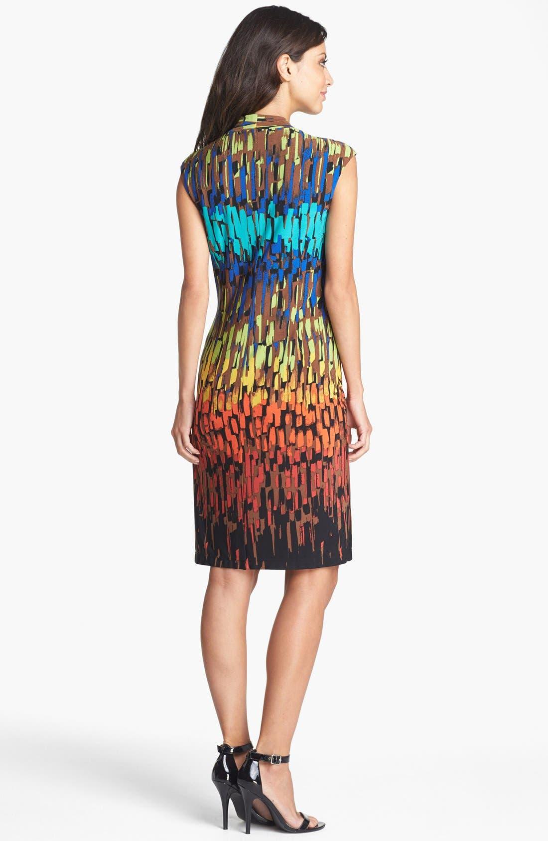 Alternate Image 2  - Ellen Tracy Ruched Jersey Sheath Dress