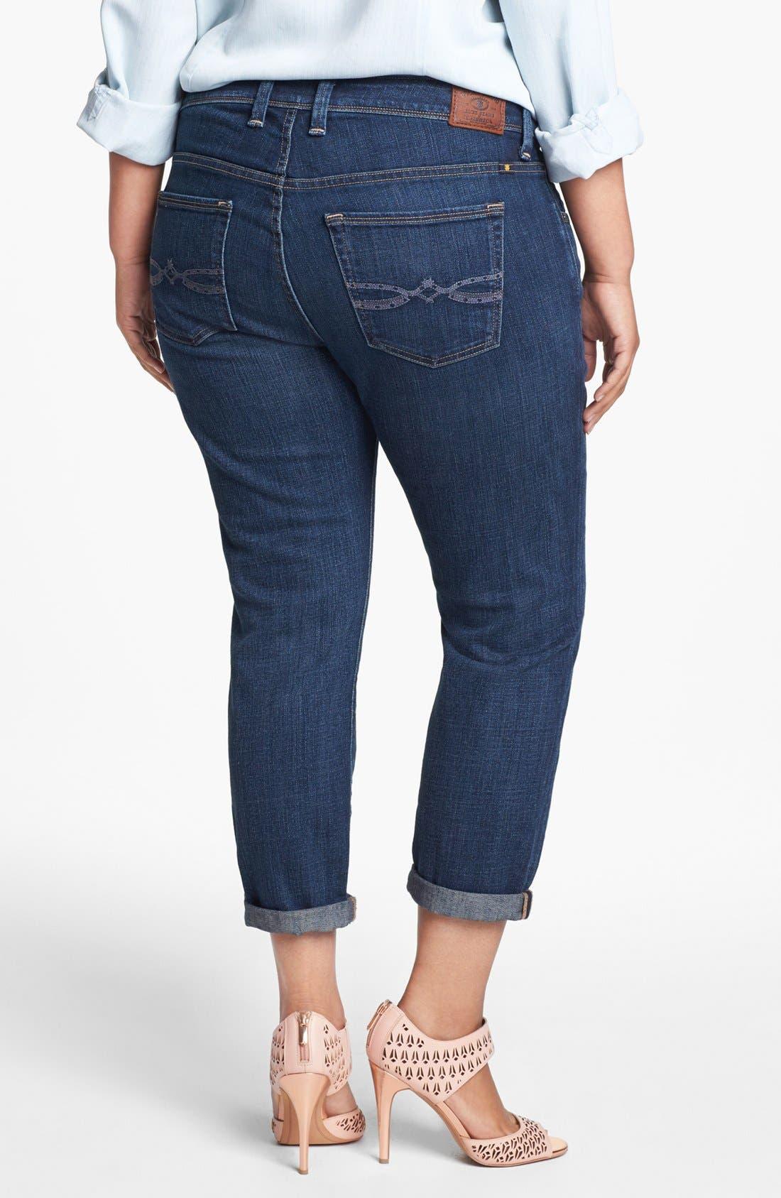 Alternate Image 2  - Lucky Brand 'Georgia' Boyfriend Jeans (Plus Size)