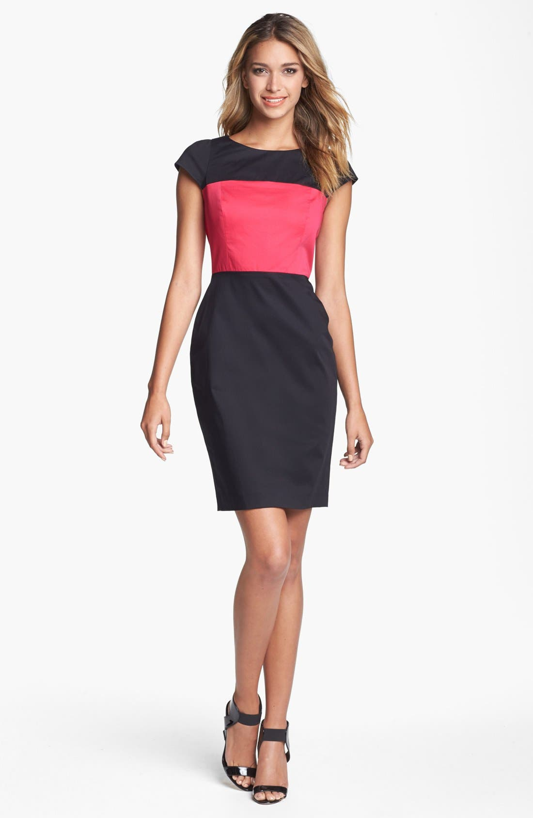 Main Image - French Connection Cap Sleeve Colorblock Sheath Dress