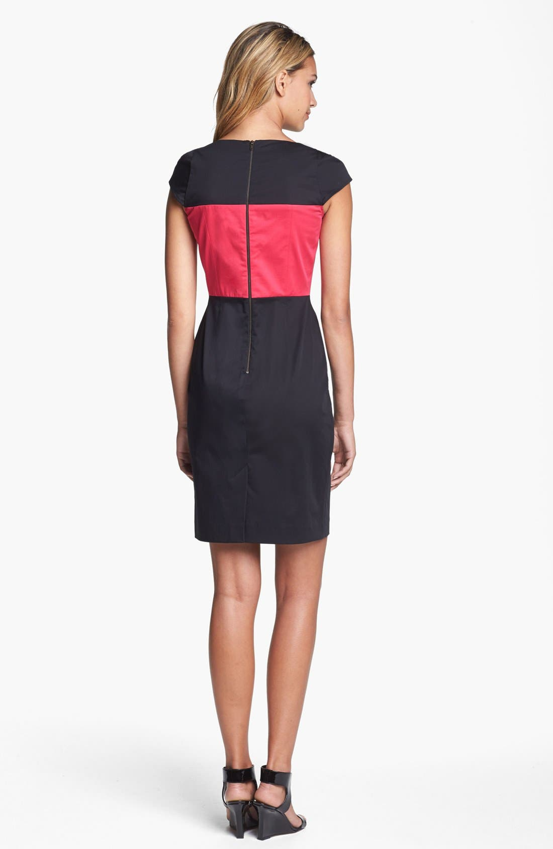 Alternate Image 2  - French Connection Cap Sleeve Colorblock Sheath Dress