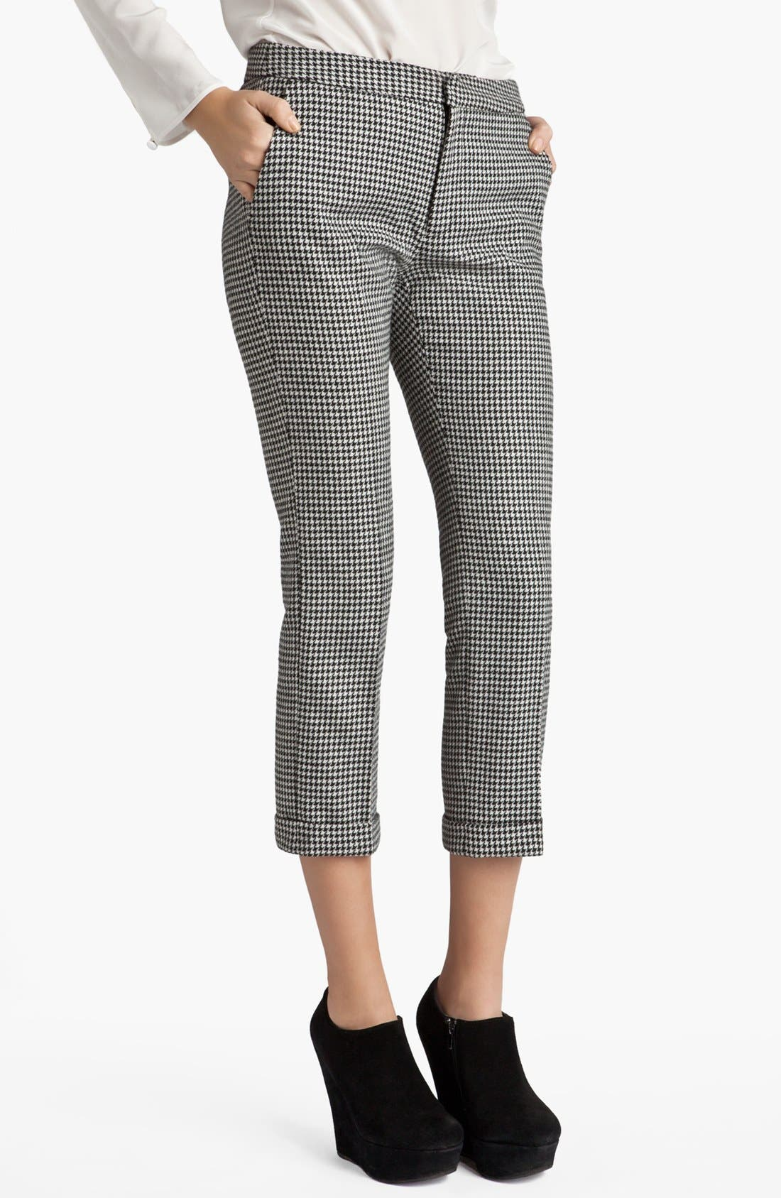 Main Image - MSGM Houndstooth Crop Trousers
