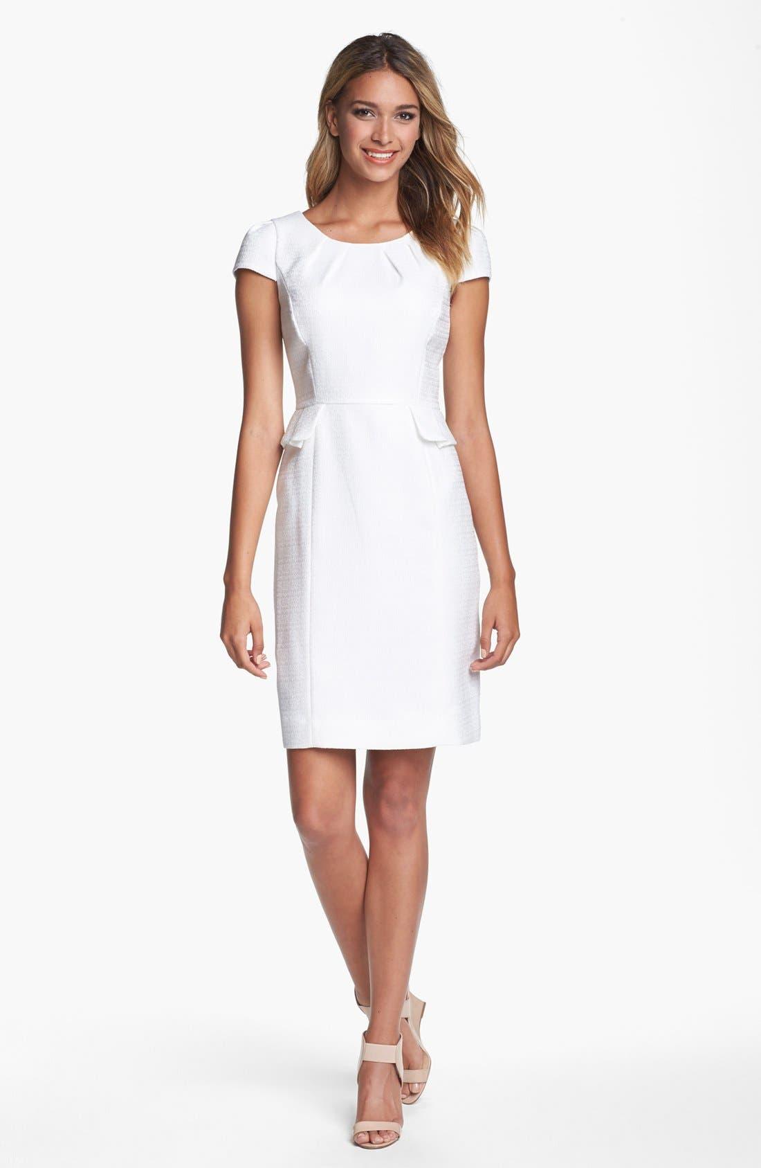 Alternate Image 1 Selected - Tahari Jacquard Peplum Sheath Dress