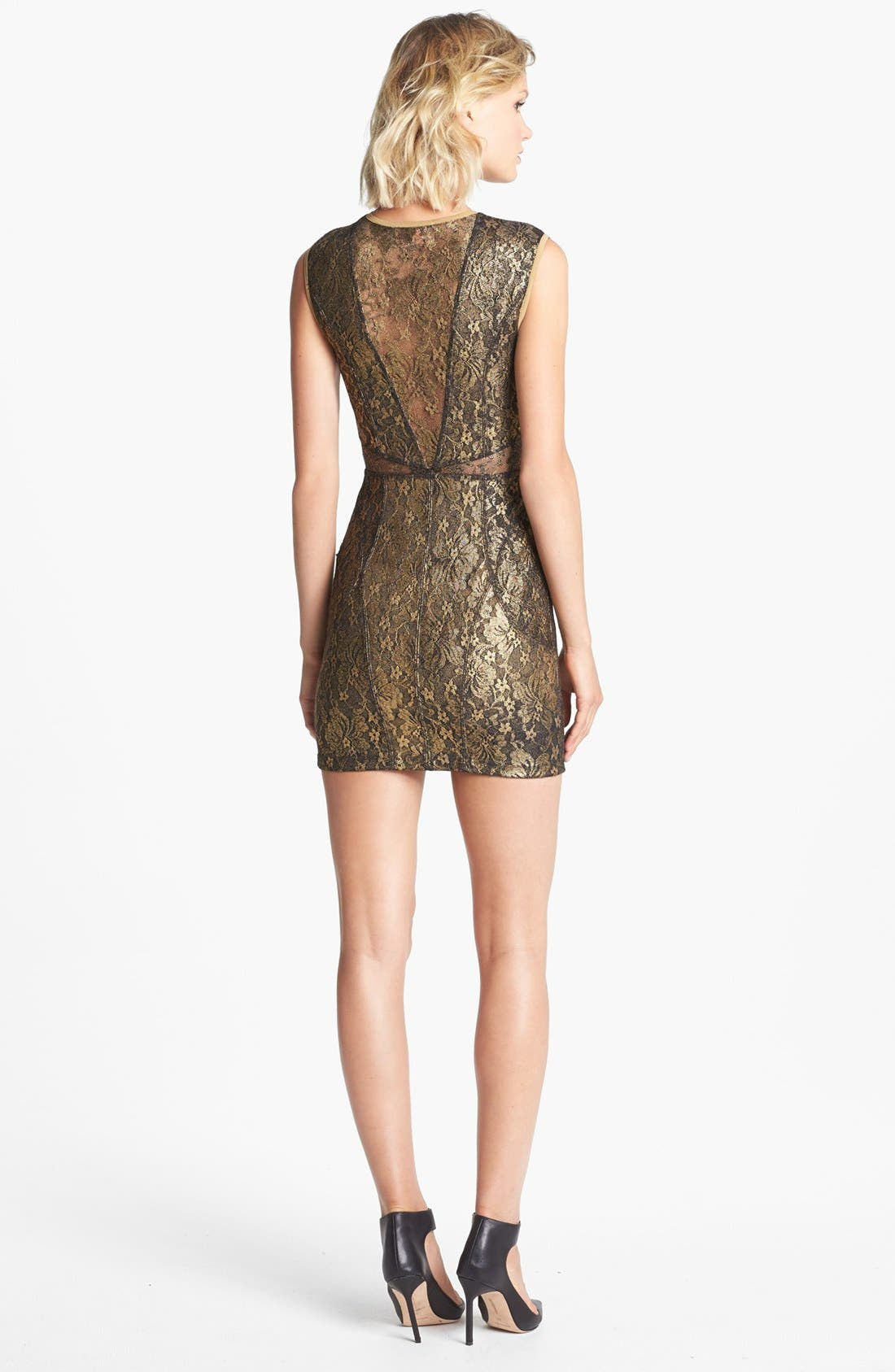 Alternate Image 2  - Keepsake the label 'Stand by Me' Lace Body-Con Dress