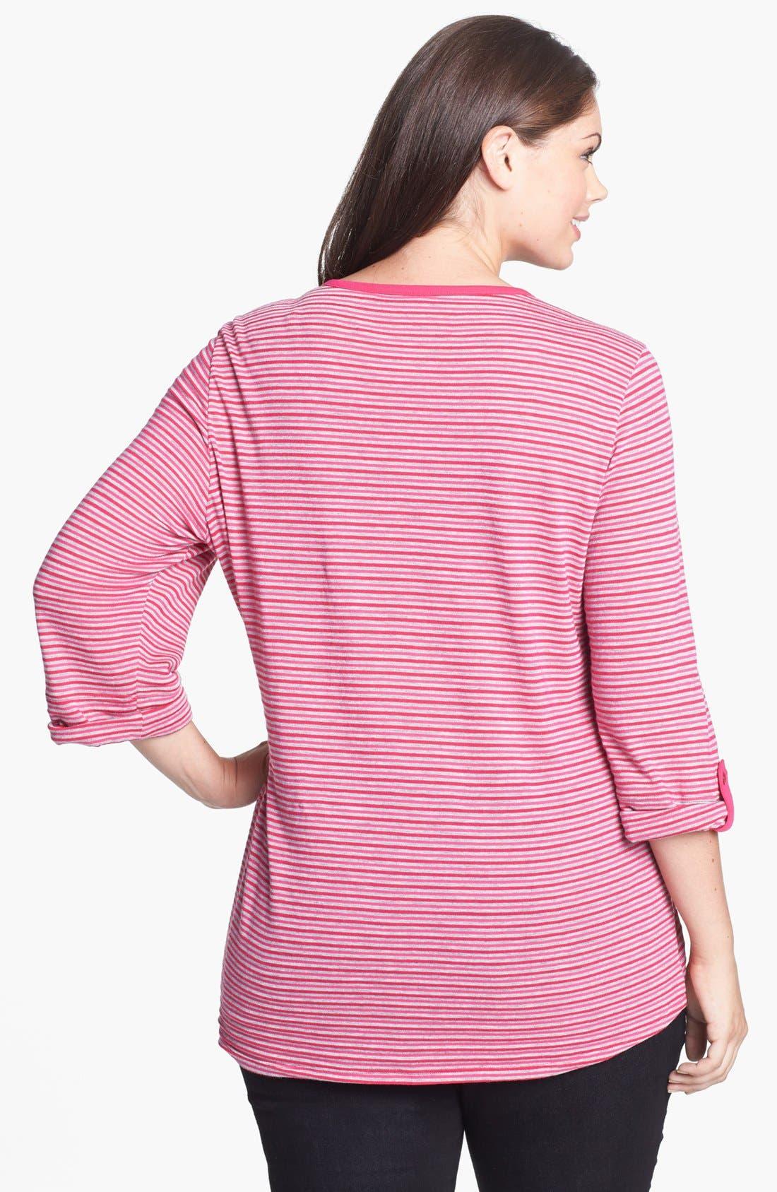 Alternate Image 2  - Sejour Stripe Jersey Top (Plus Size)