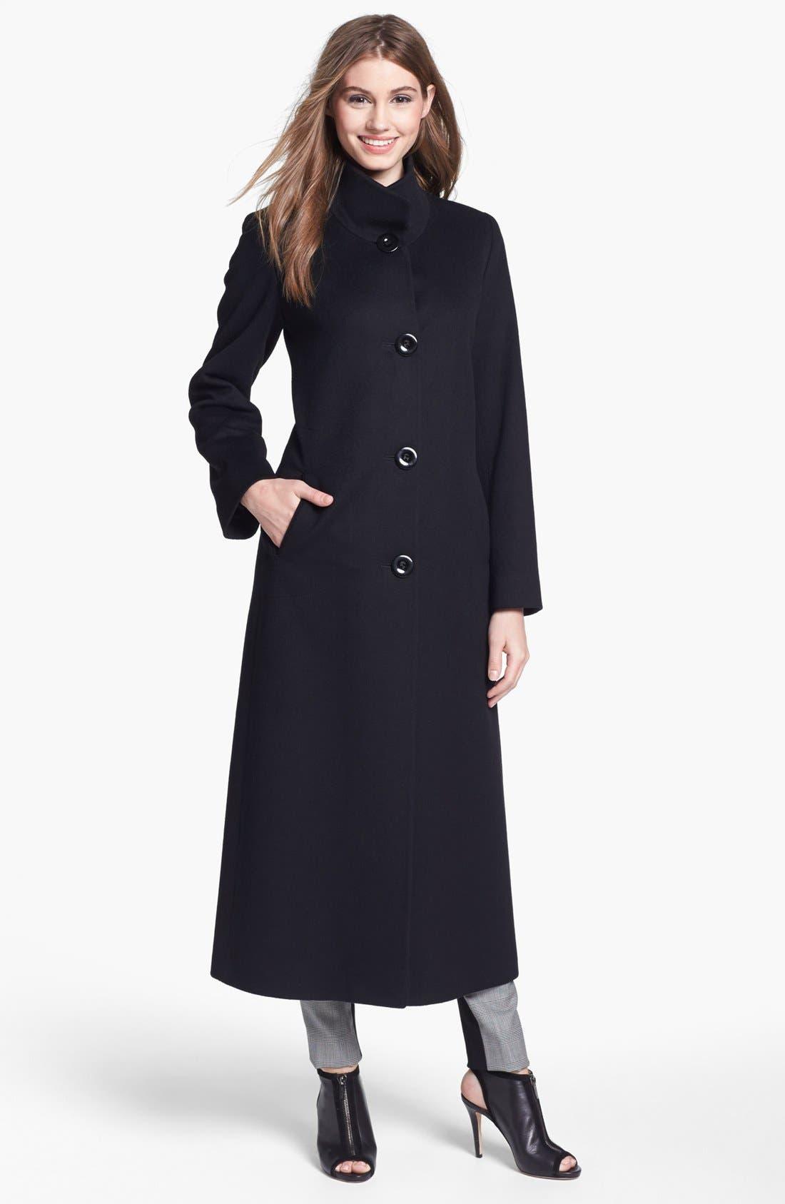 Main Image - Fleurette Stand Collar Cashmere Coat