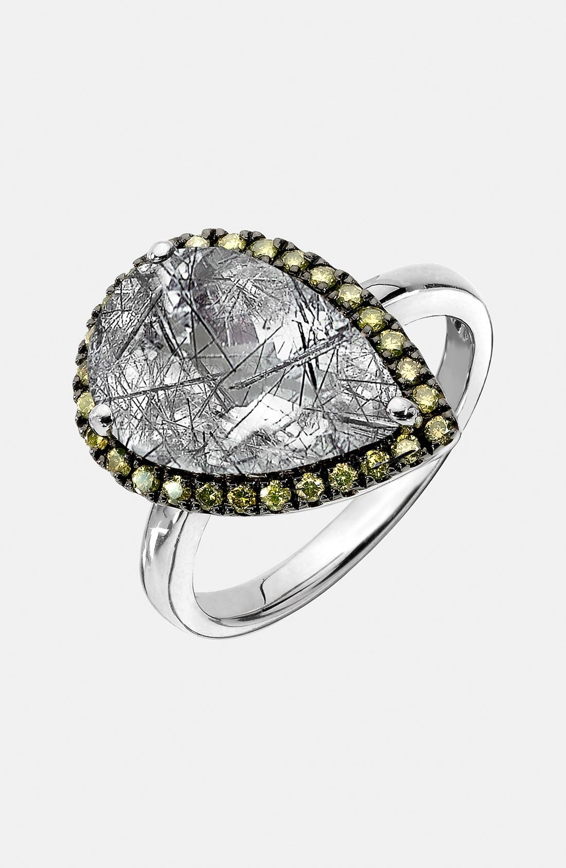 Alternate Image 1 Selected - Whitney Stern Quartz & Canary Diamond Cocktail Ring