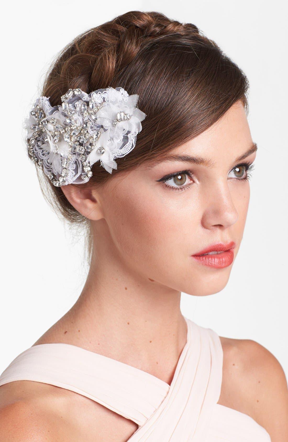 Alternate Image 1 Selected - Serephine 'Eloise' Rhinestone & Lace Bridal Comb