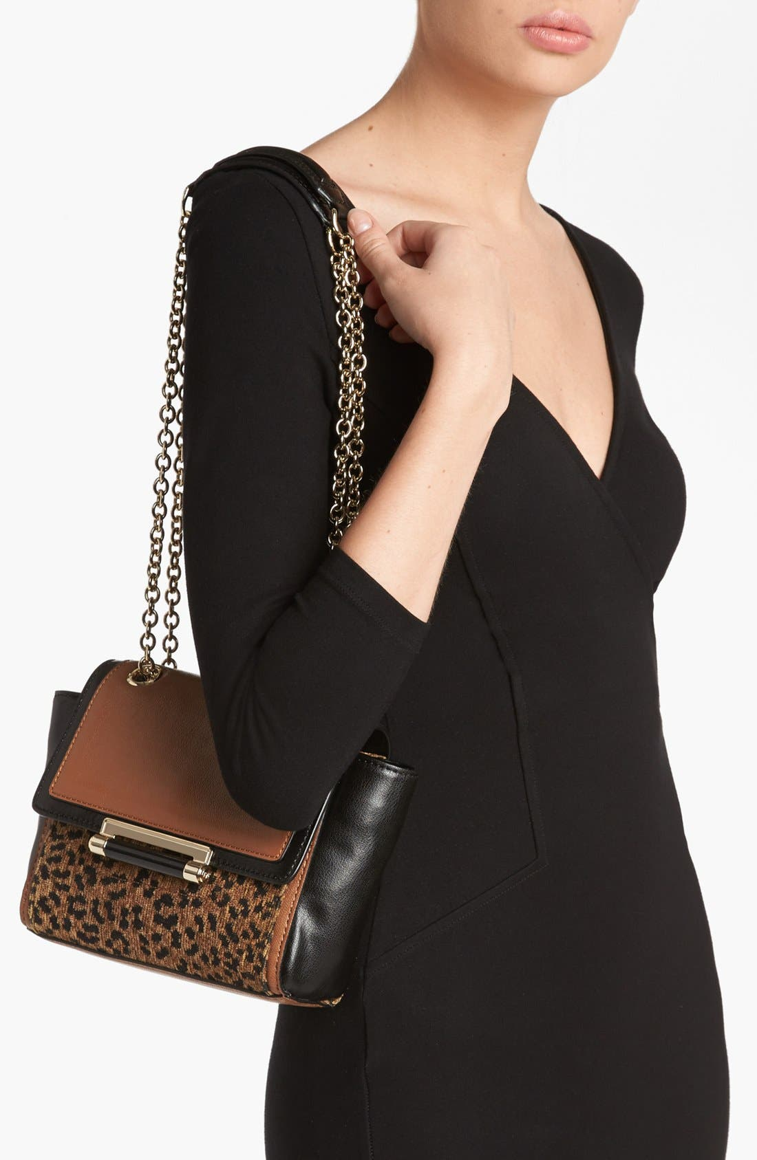 Alternate Image 2  - Diane von Furstenberg '440 - Mini' Leopard Jacquard Crossbody Bag