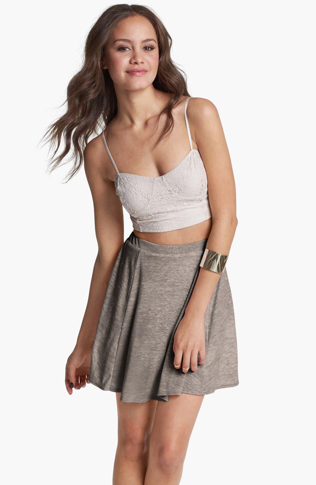 Alternate Image 1 Selected - h.i.p. Slub Knit Circle Skirt (Juniors)