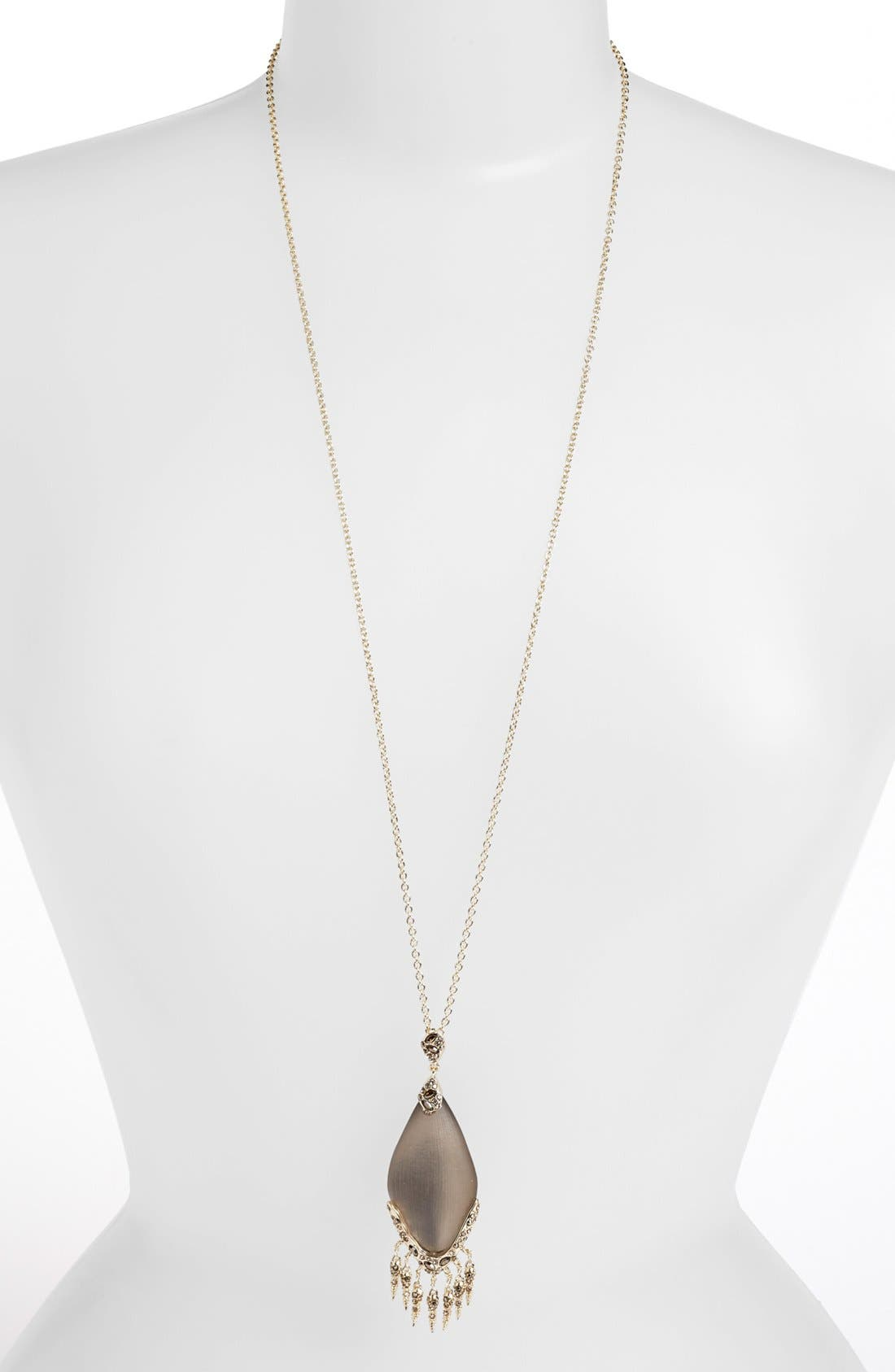 Main Image - Alexis Bittar 'Lucite® - Neo Bohemian' Long Fringe Pendant Necklace