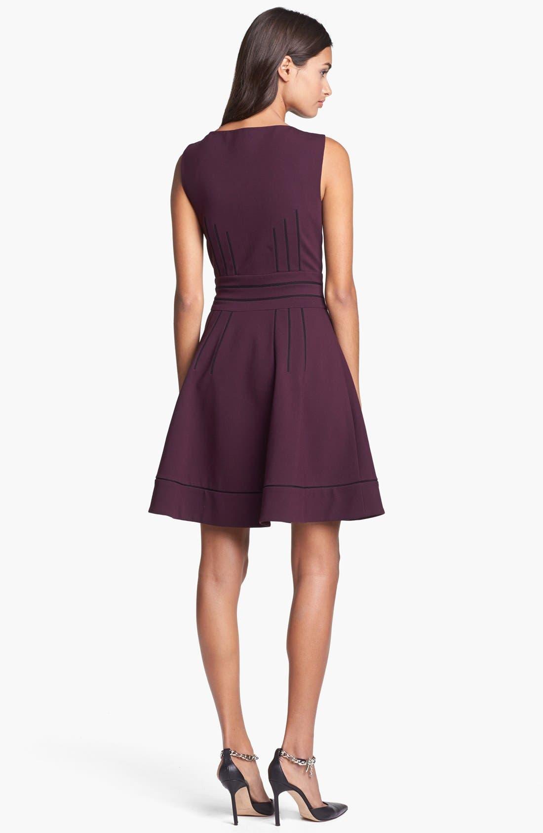 Alternate Image 2  - Diane von Furstenberg 'Georgette' Ponte Fit & Flare Dress