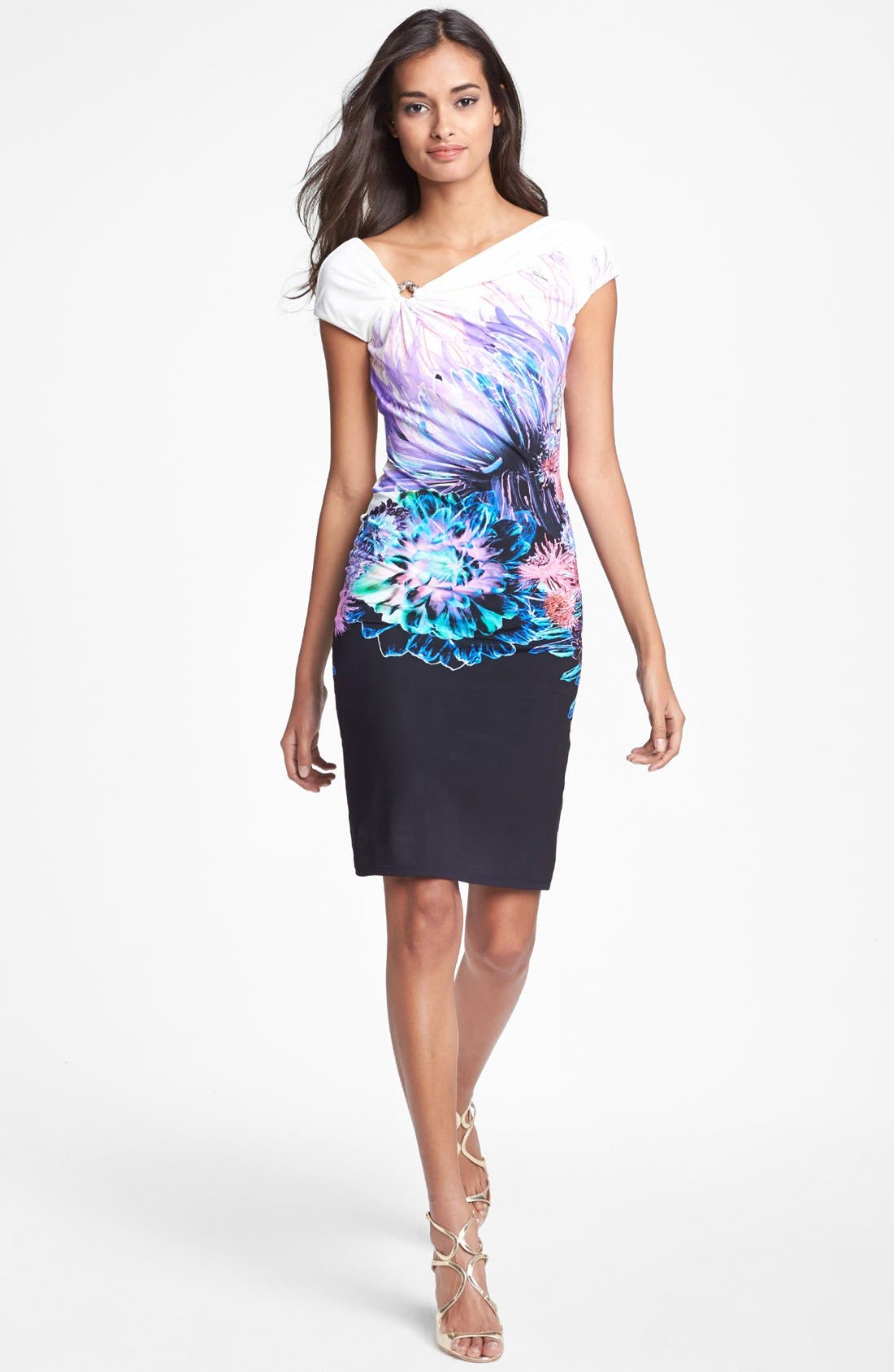 Main Image - Roberto Cavalli 'Amber Print' Jersey Dress