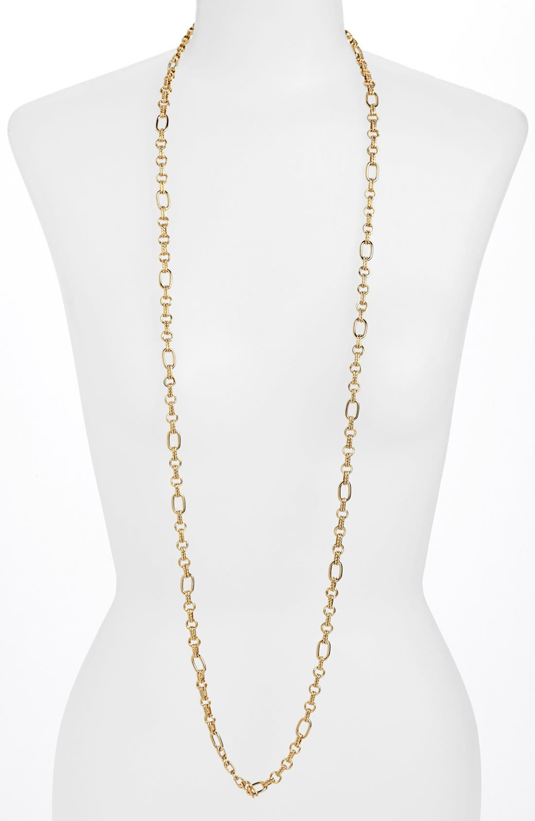 Alternate Image 1 Selected - Nordstrom Long Textured Link Necklace