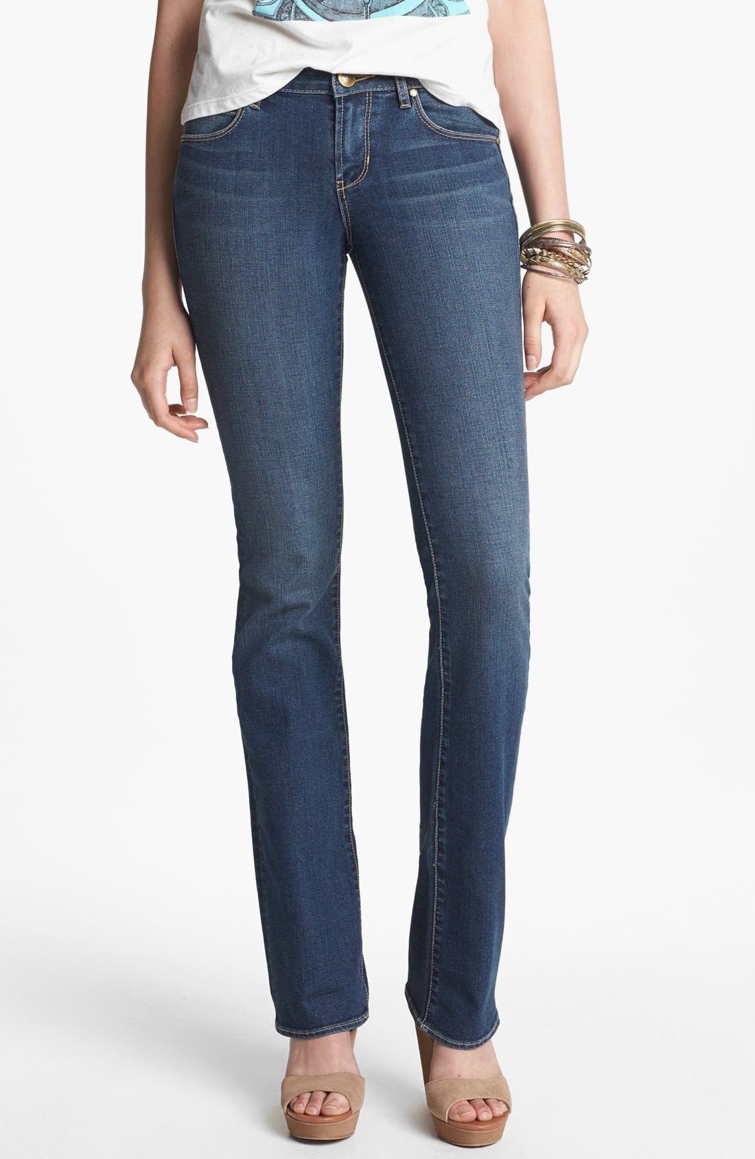 Alternate Image 1 Selected - Articles of Society 'Kendra' Baby Bootcut Jeans (Medium) (Juniors)