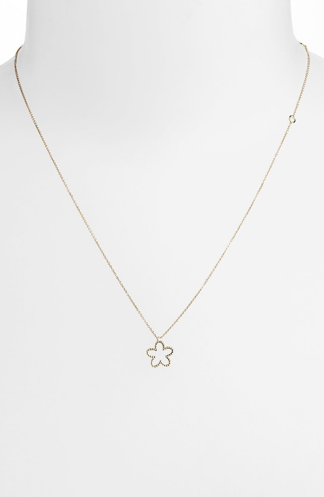 Alternate Image 2  - Roberto Coin 'Tiny Treasures' Diamond Flower Pendant Necklace